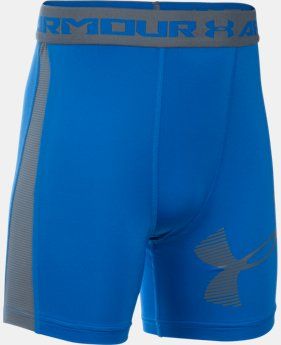 Boys' UA HeatGear® Armour Up Fitted–Mid