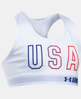 New Arrival Girls' UA HeatGear® Armour USA Sports Bra  1 Color $27.99