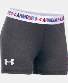 Girls' UA HeatGear® Armour USA Shorty