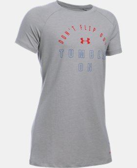 Best Seller Girls' UA Tumble On Short Sleeve T-Shirt LIMITED TIME: FREE SHIPPING  $24.99