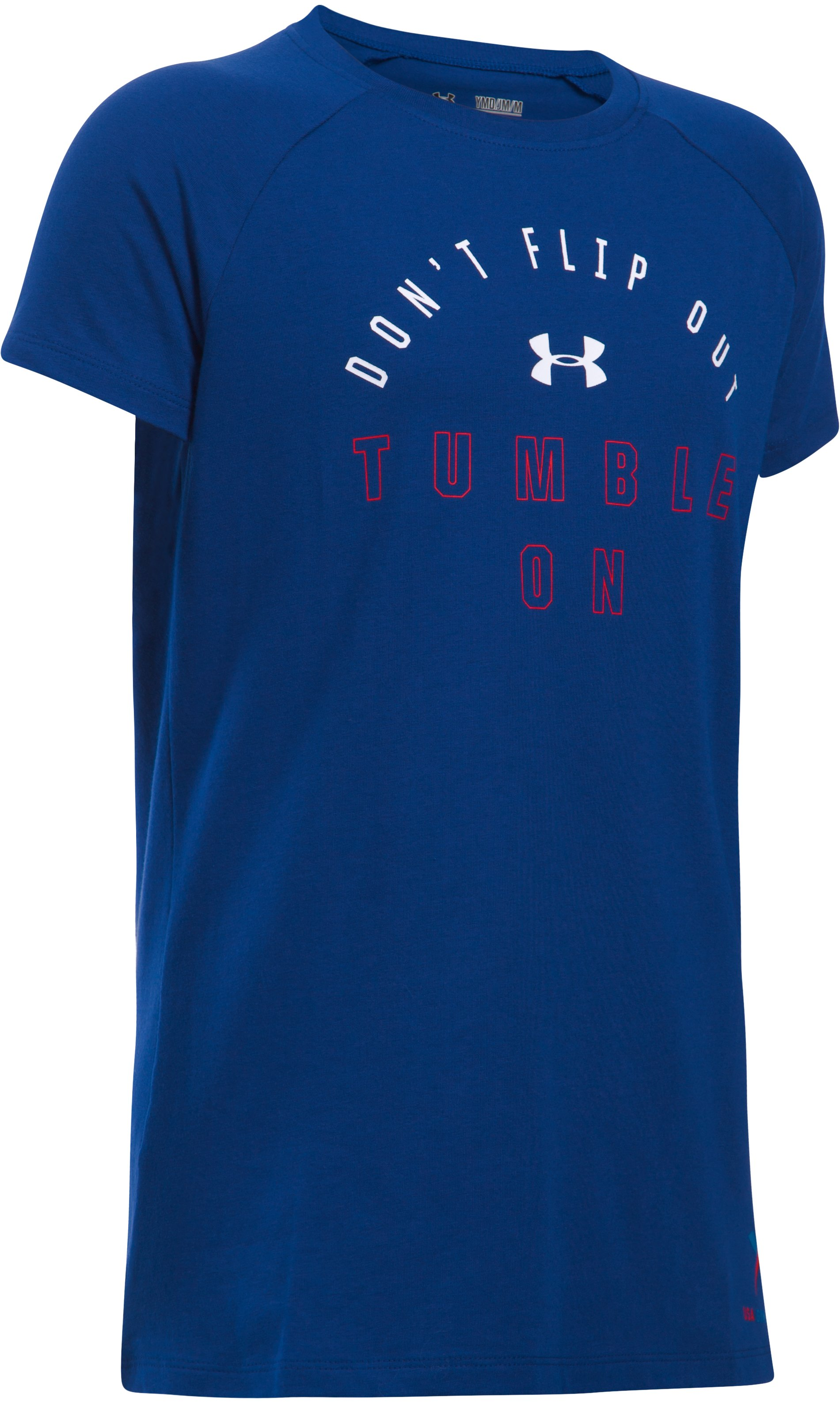 Girls' UA Tumble On Short Sleeve T-Shirt, Caspian
