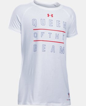 New Arrival Girls' UA Queen Of The Beam Short Sleeve T-Shirt LIMITED TIME: FREE SHIPPING  $24.99