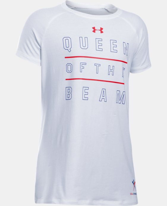 Girls' UA Queen Of The Beam Short Sleeve T-Shirt  1 Color $24.99
