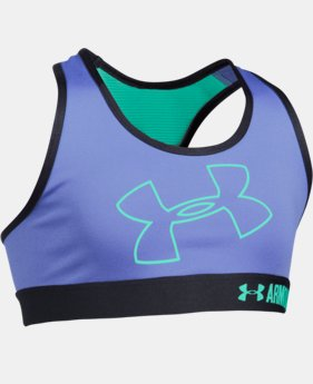 Girls' UA HeatGear® Armour Logo Sports Bra LIMITED TIME: FREE U.S. SHIPPING 2 Colors $24.99