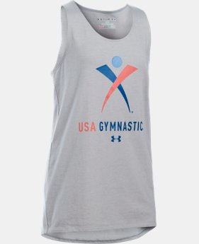 Best Seller Girls' USA Gymnastics Tank LIMITED TIME: FREE SHIPPING 1 Color $24.99