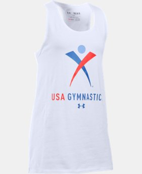 Girls' USA Gymnastics Tank  1 Color $14.24