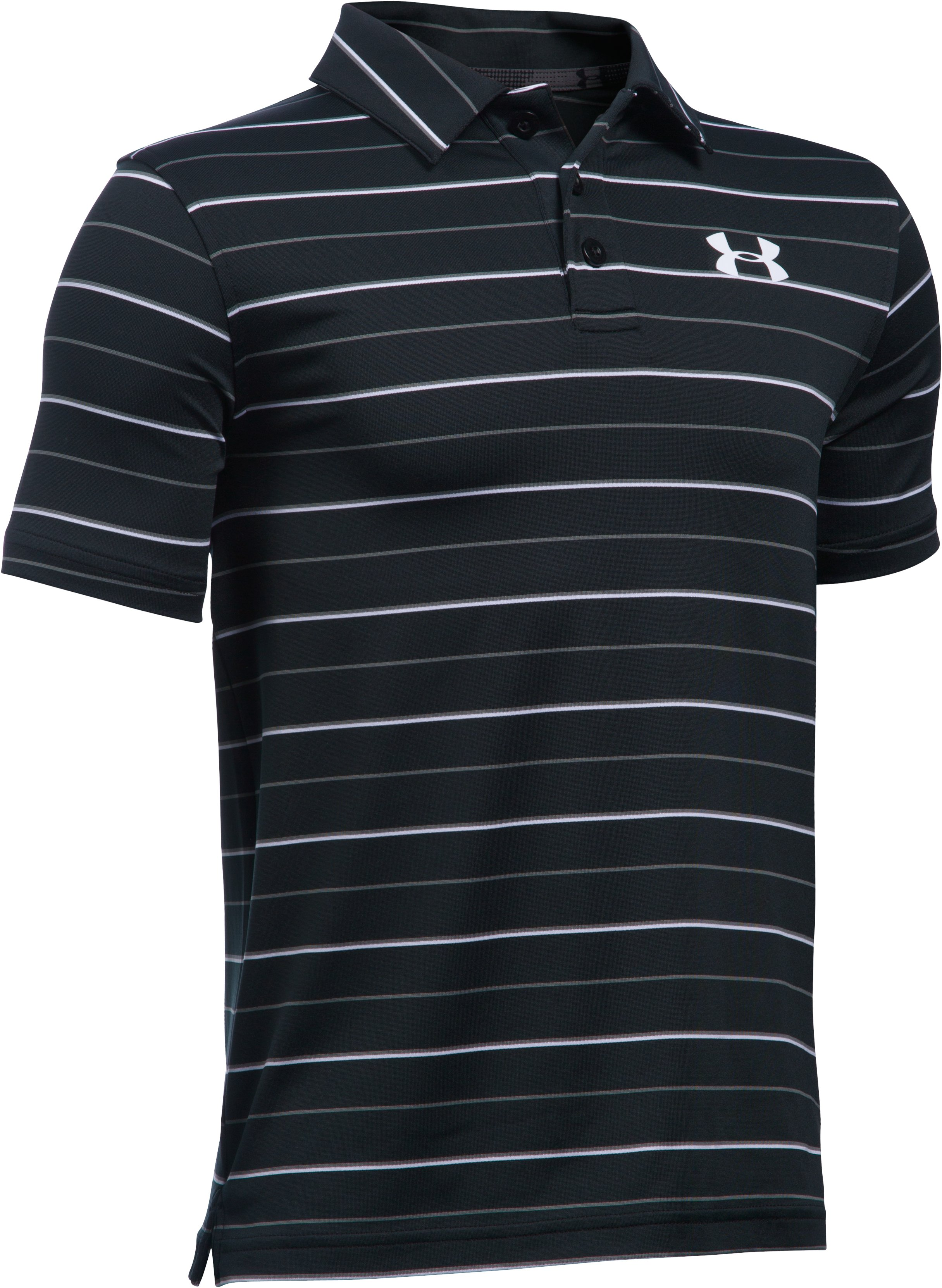Boys' UA Par Polo, Black , undefined