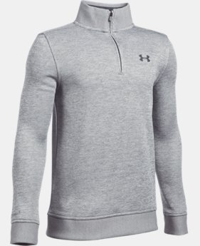 New Arrival Boys' UA Storm SweaterFleece ¼ Zip LIMITED TIME: FREE SHIPPING  $54.99