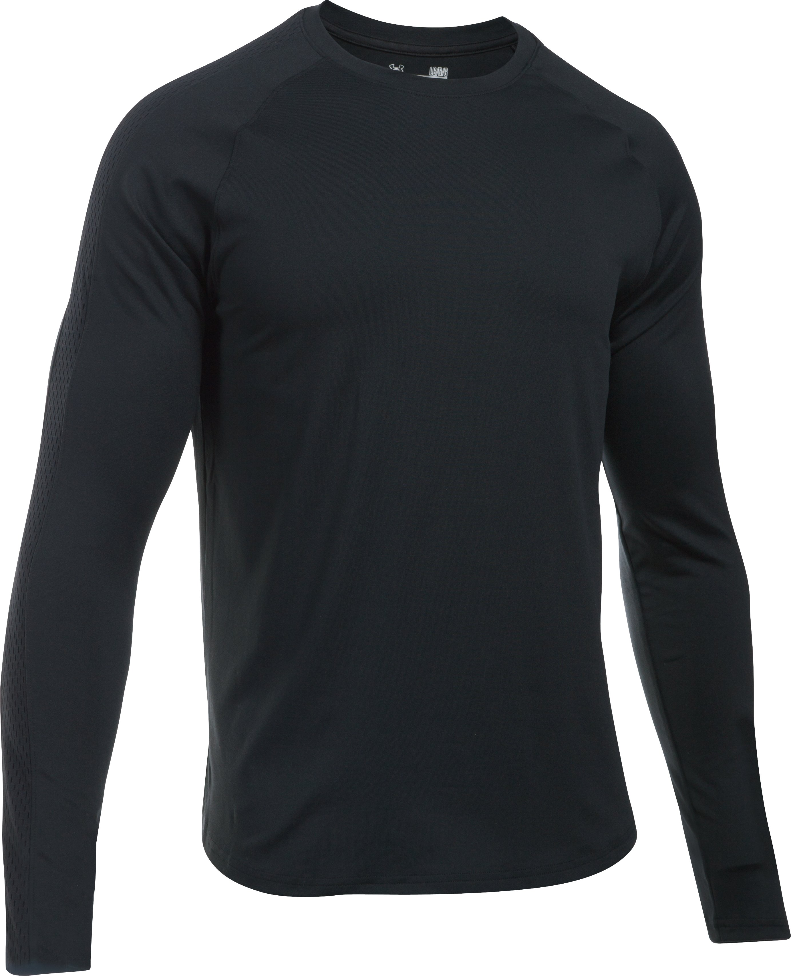 Men's UA Pursuit Long Sleeve T-Shirt, Black