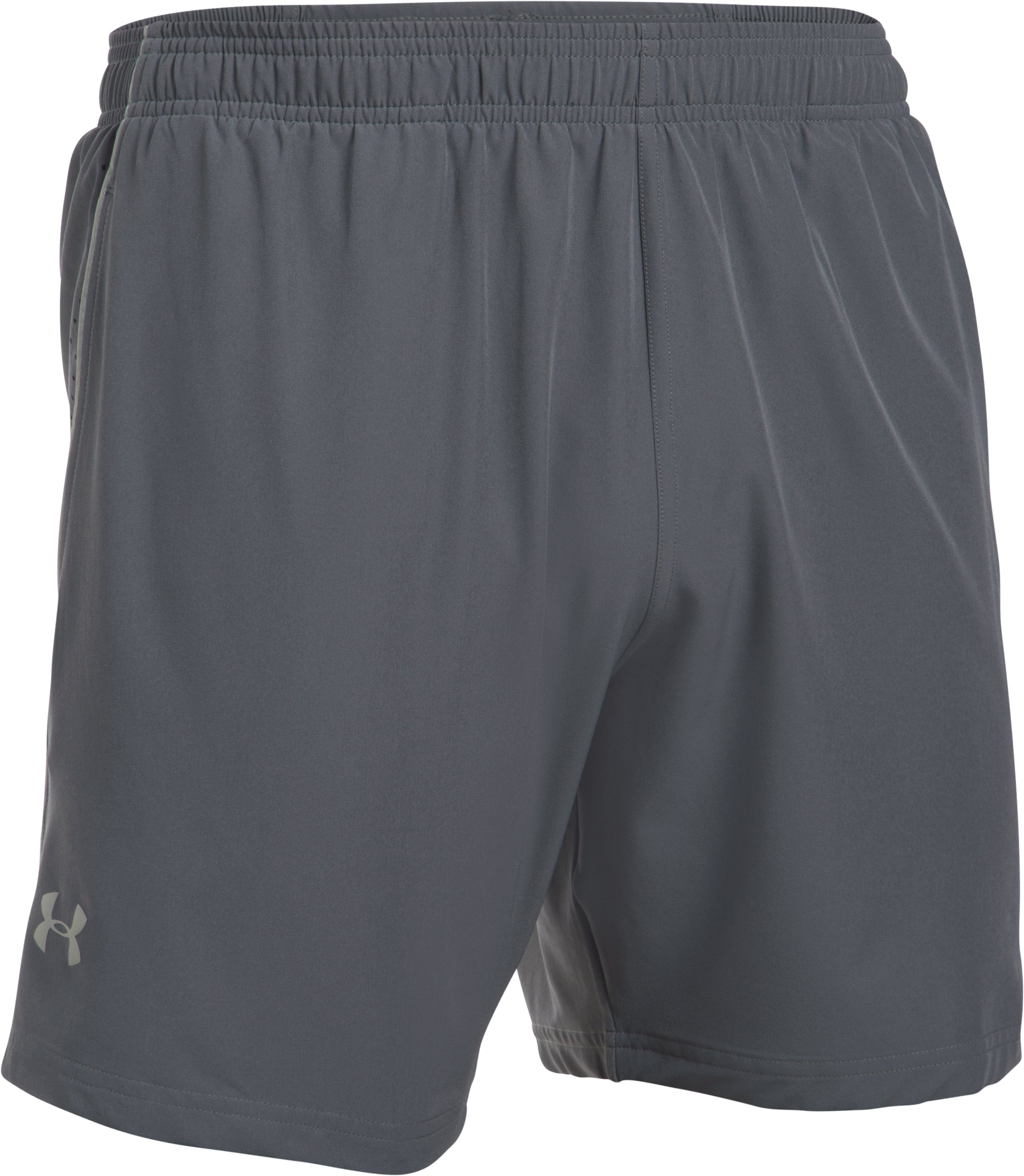 Men's UA CoolSwitch Run Shorts, RHINO GRAY,
