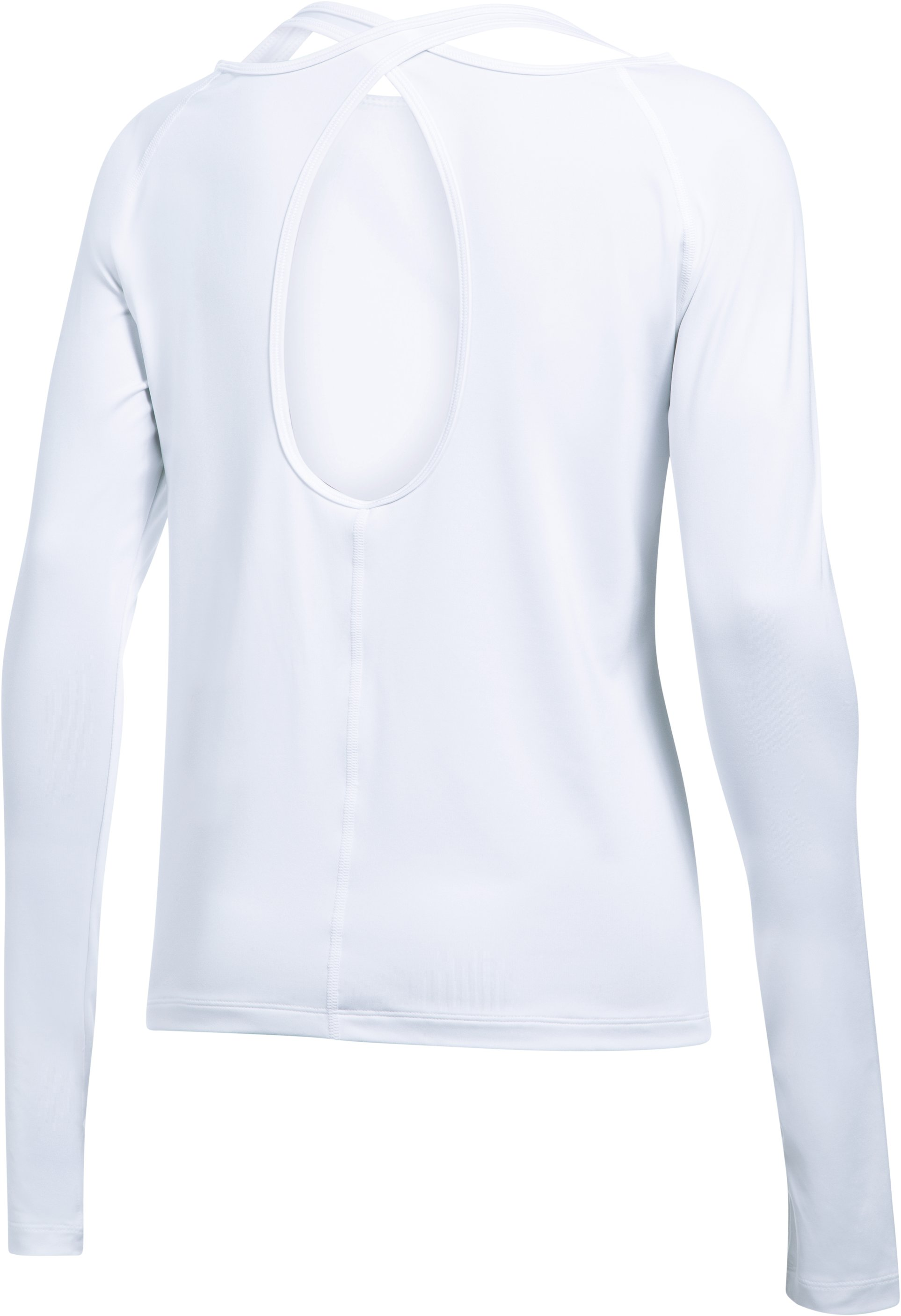 Women's UA Swing Keyhole Long Sleeve, White,