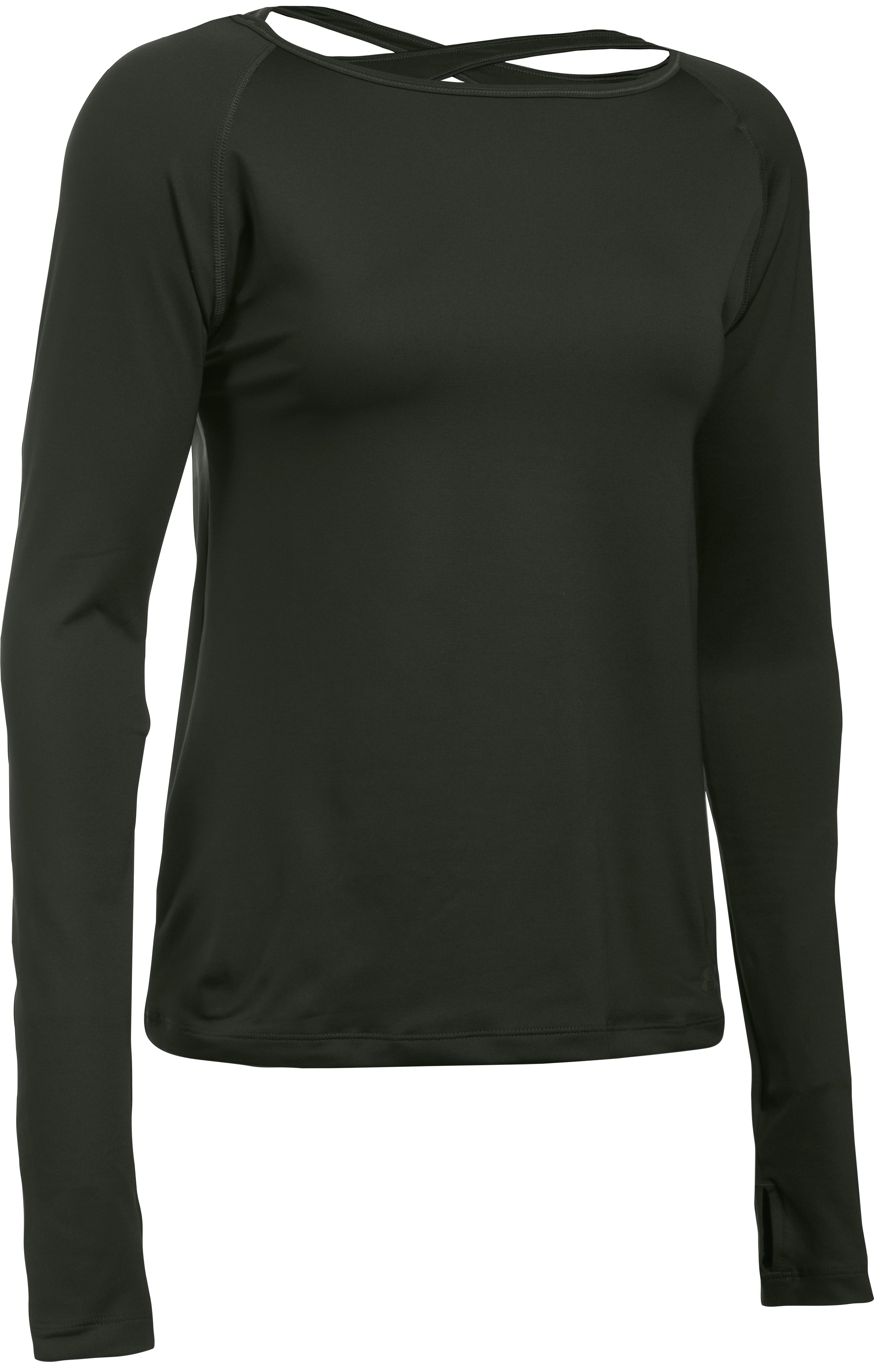 Women's UA Swing Keyhole Long Sleeve, Artillery Green,