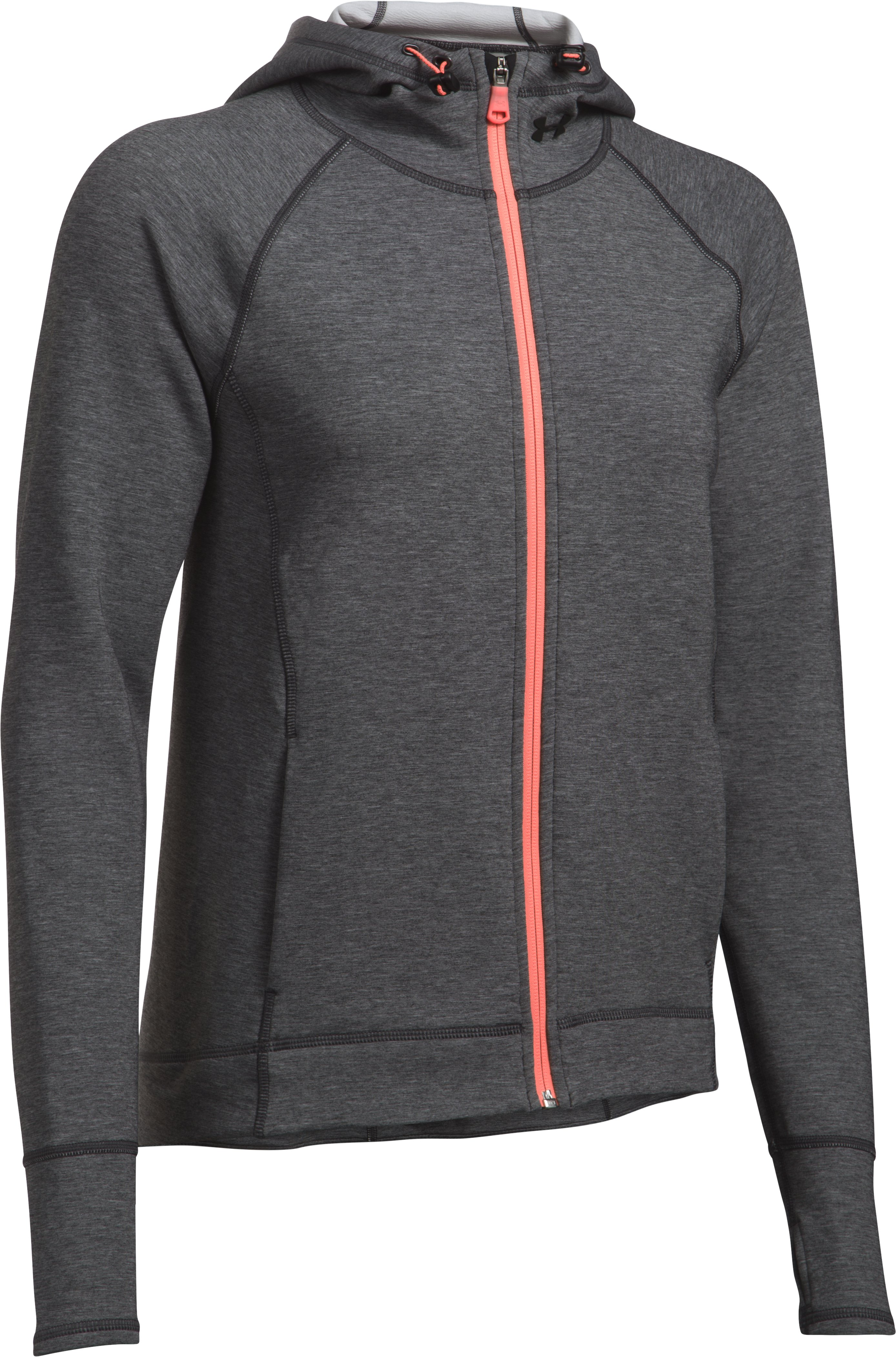 Women's UA Luster Jacket, Carbon Heather, undefined