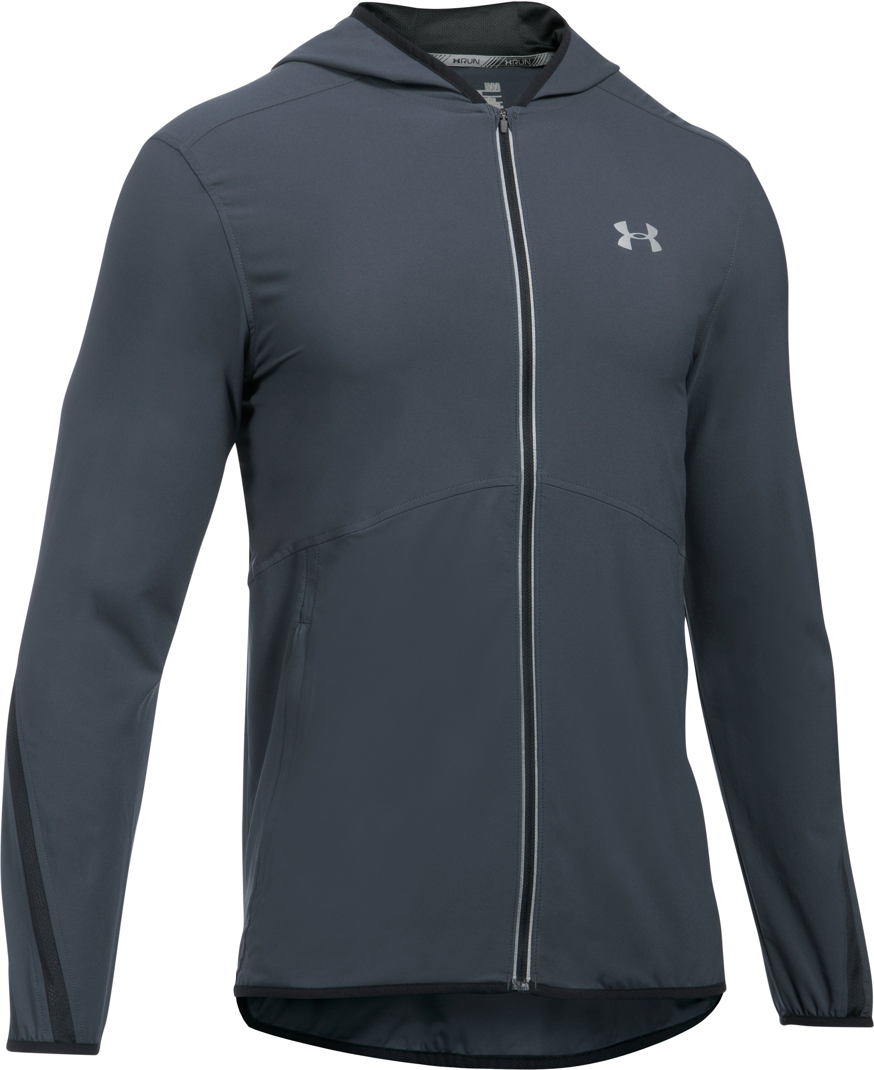 Men's UA Run True Jacket, STEALTH GRAY