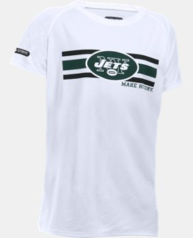 New to Outlet Girls' NFL Combine Authentic UA Tech™ Graphic T-Shirt   1 Color $19.59