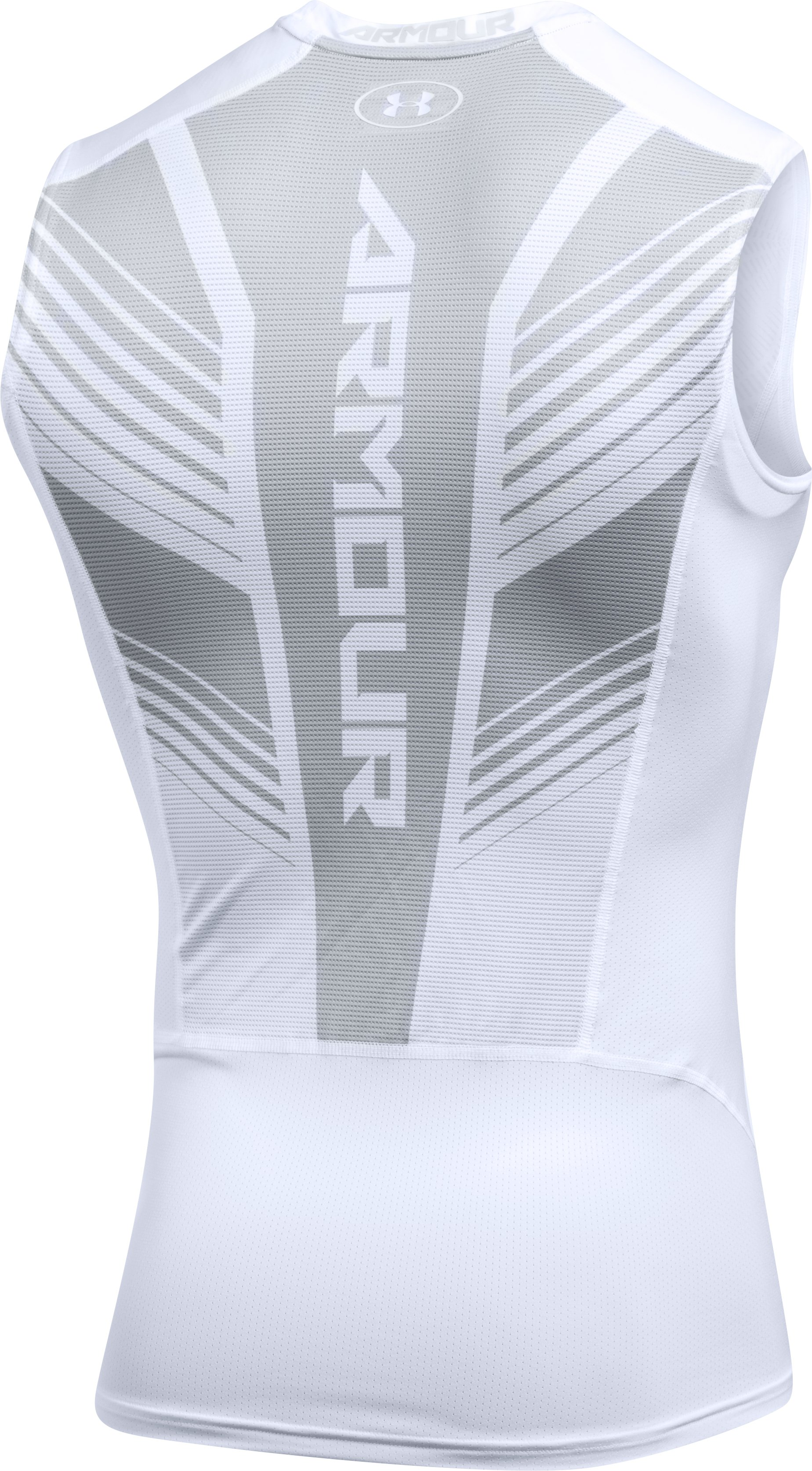 Men's HeatGear® SuperVent Armour Compression Tank, White