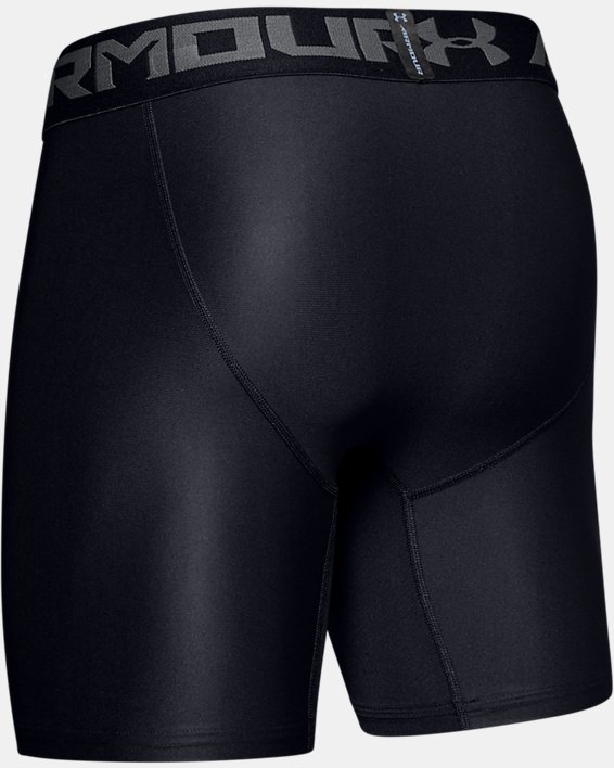 Men's HeatGear® Armour Mid Compression Shorts, Black, pdpMainDesktop image number 7