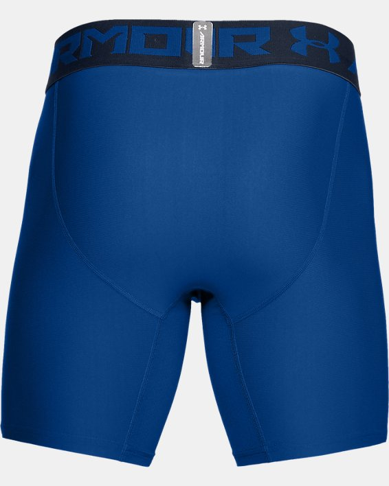 Men's HeatGear® Armour Mid Compression Shorts, Blue, pdpMainDesktop image number 3