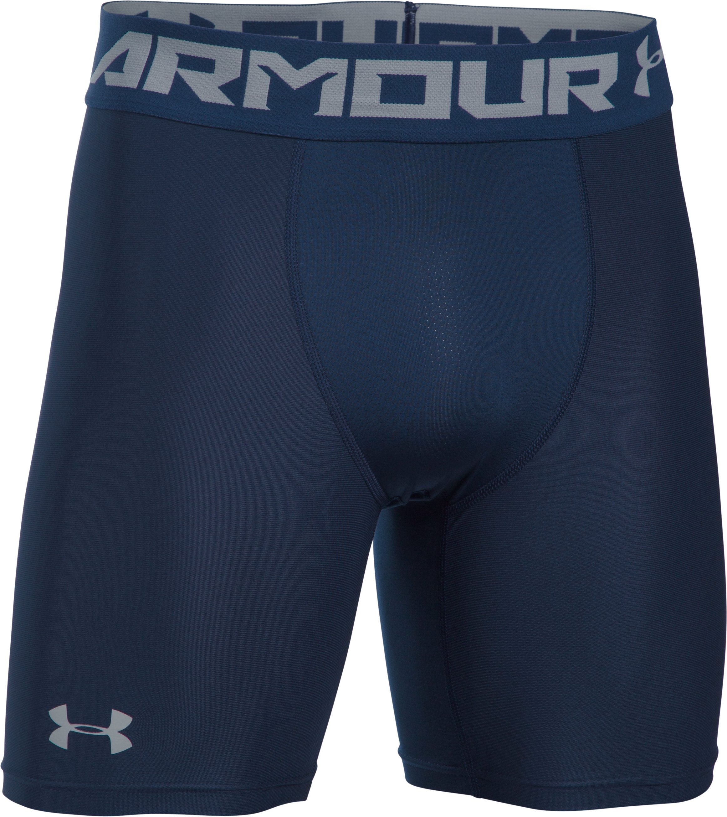 Men's HeatGear® Armour Mid Compression Shorts, Midnight Navy, undefined