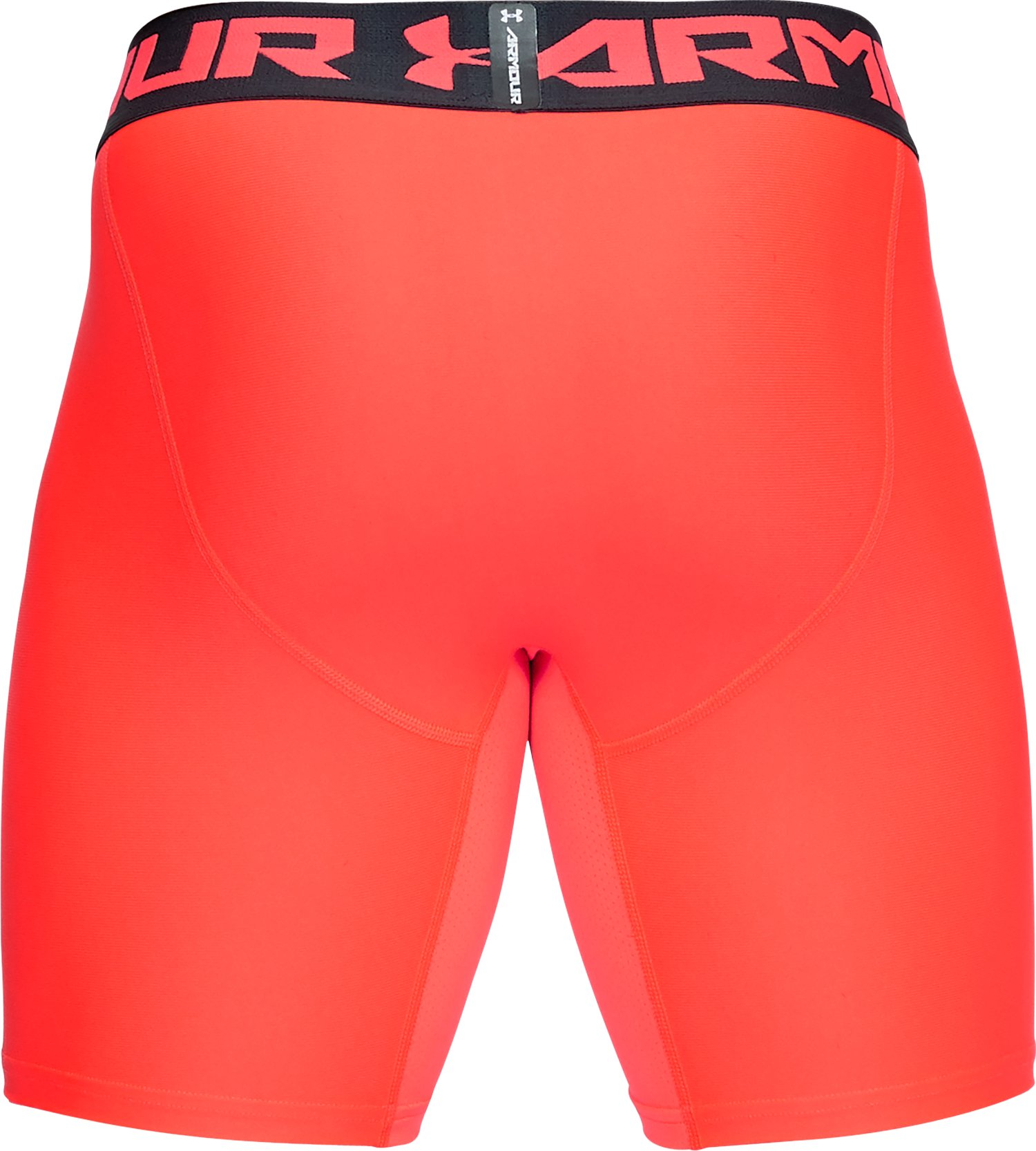 Men's HeatGear® Armour Mid Compression Shorts, NEON CORAL,