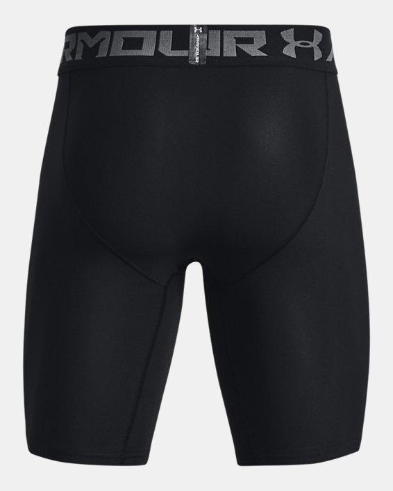Men's HeatGear® Armour Long Compression Shorts, Black, pdpMainDesktop image number 7