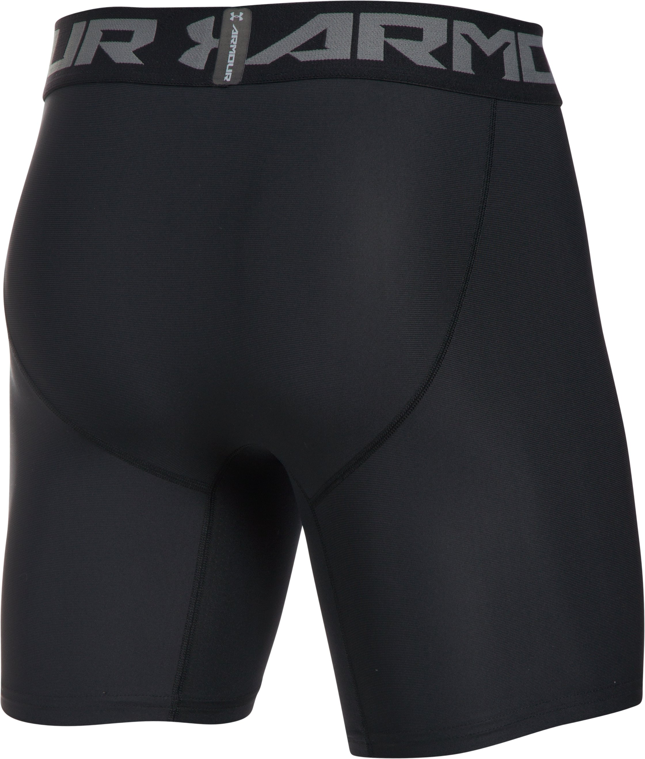 Men's HeatGear® Armour Mid Compression Shorts, Black