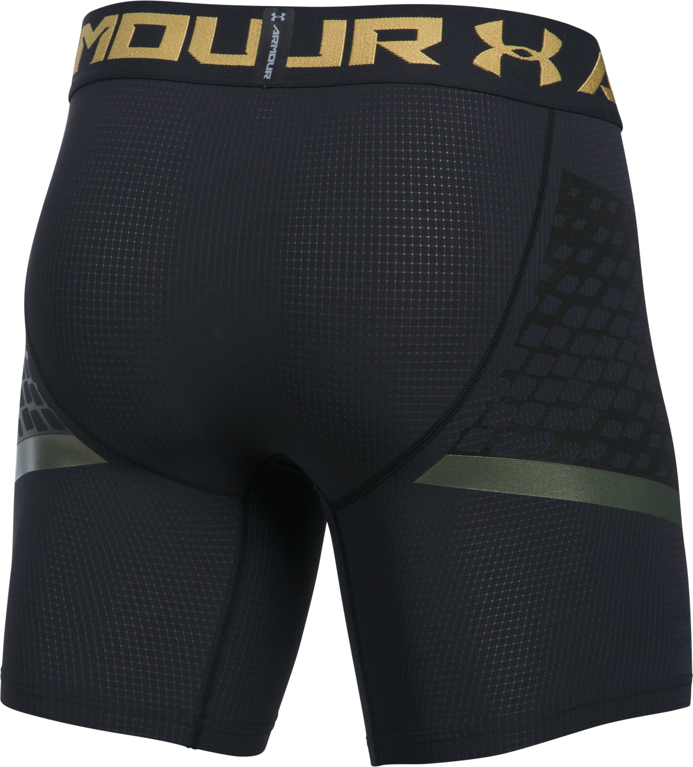 Men's HeatGear® Armour Zone Compression Shorts, Black