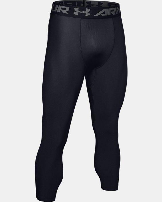 Men's HeatGear® Armour Compression ¾ Leggings, Black, pdpMainDesktop image number 5