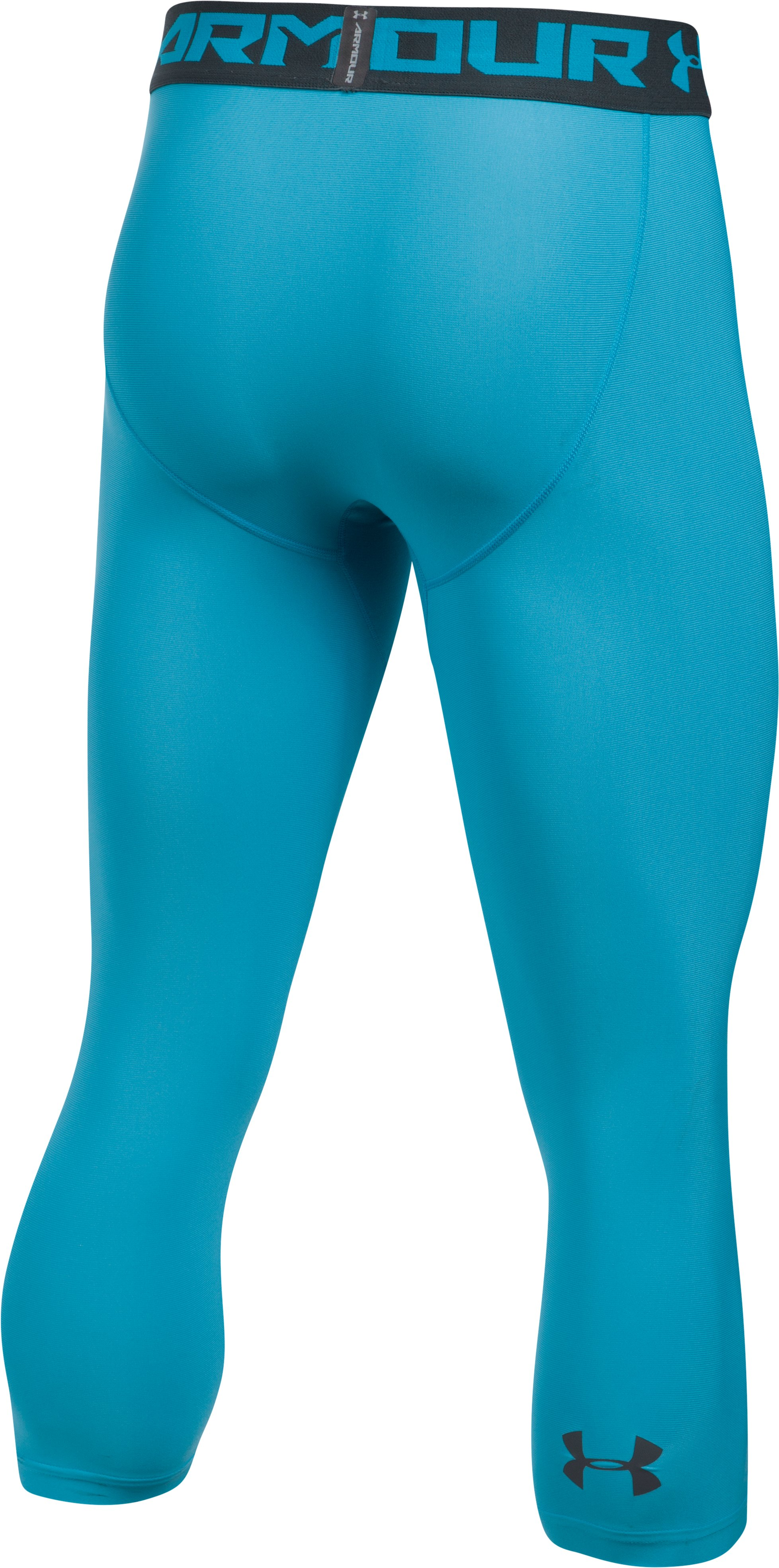 Men's HeatGear® Armour Compression ¾ Leggings, BLUE SHIFT, undefined