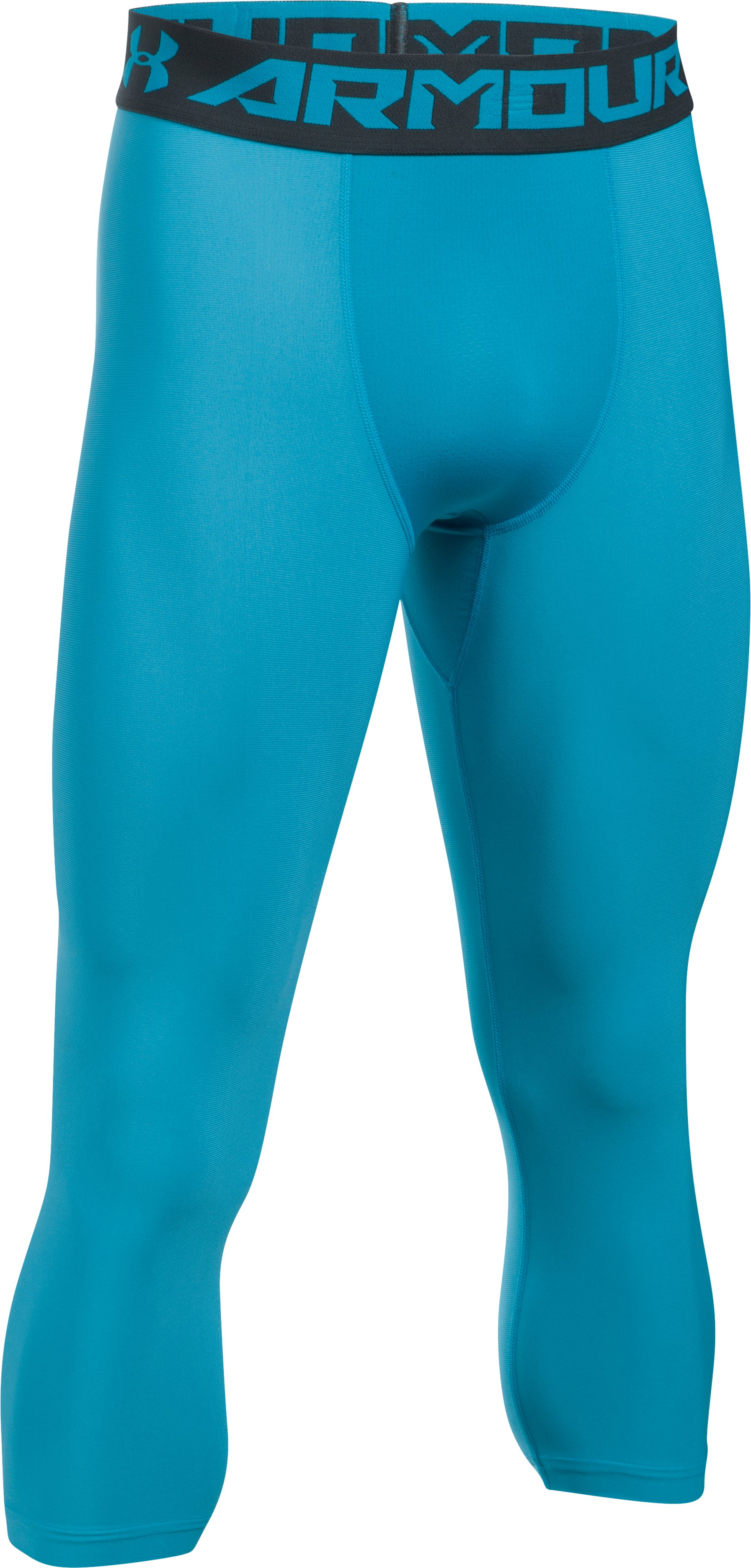 Men's HeatGear® Armour Compression ¾ Leggings, BLUE SHIFT,