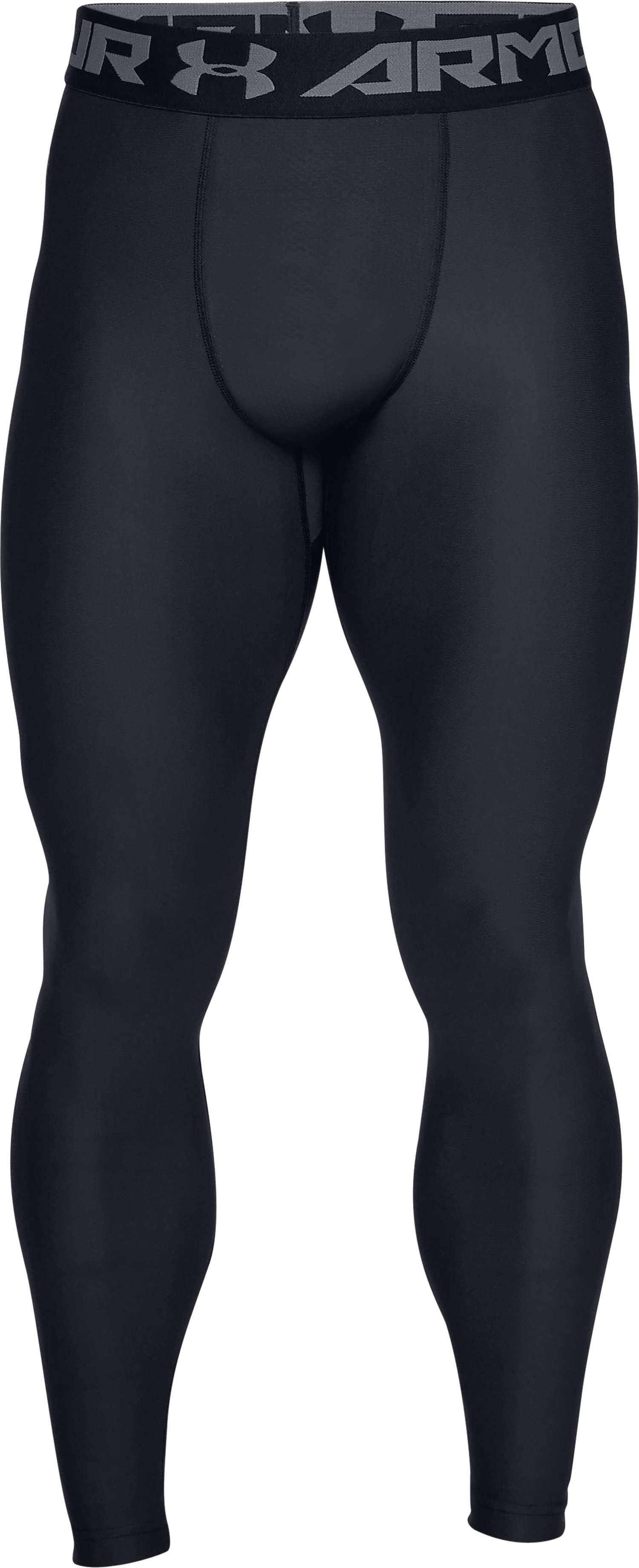 Men's HeatGear® Armour Compression Leggings, Black ,