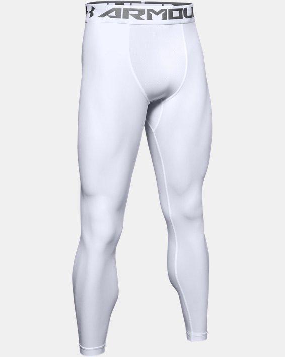 Men's HeatGear® Armour Compression Leggings, White, pdpMainDesktop image number 6