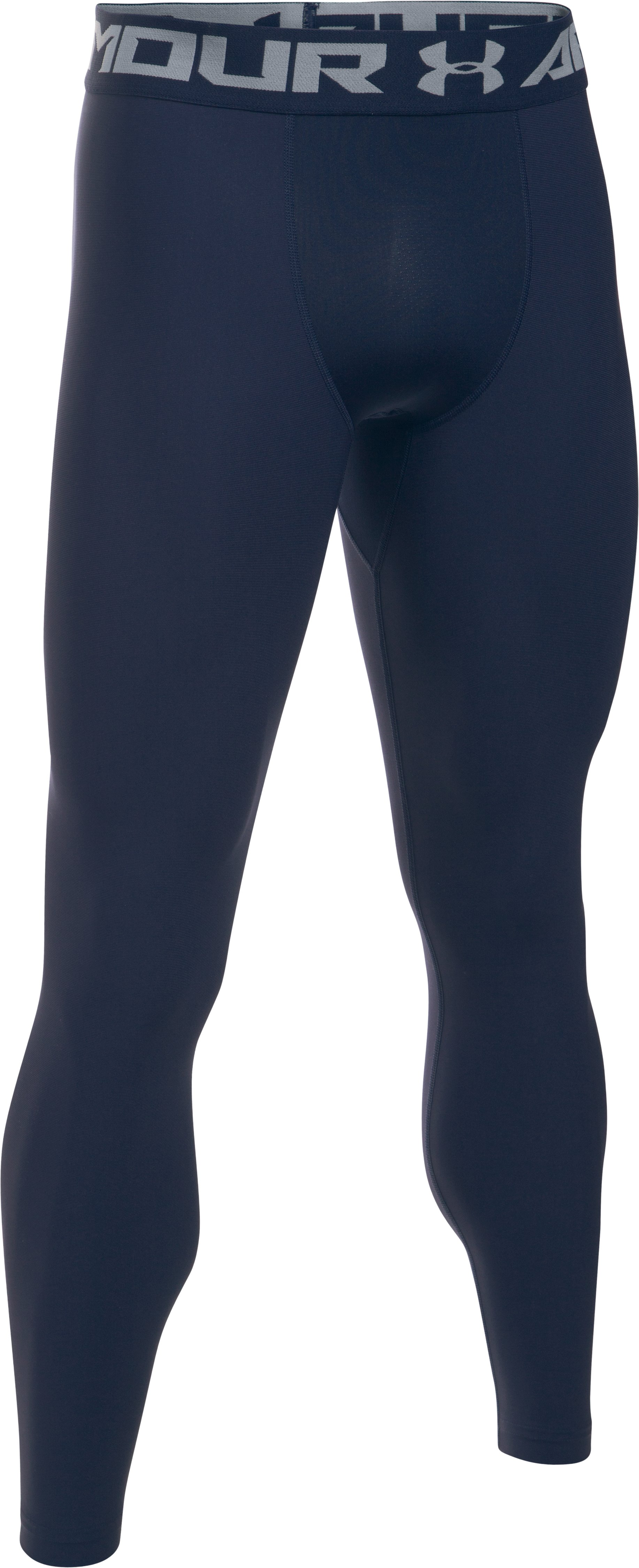 Men's HeatGear® Armour Compression Leggings, Midnight Navy, undefined