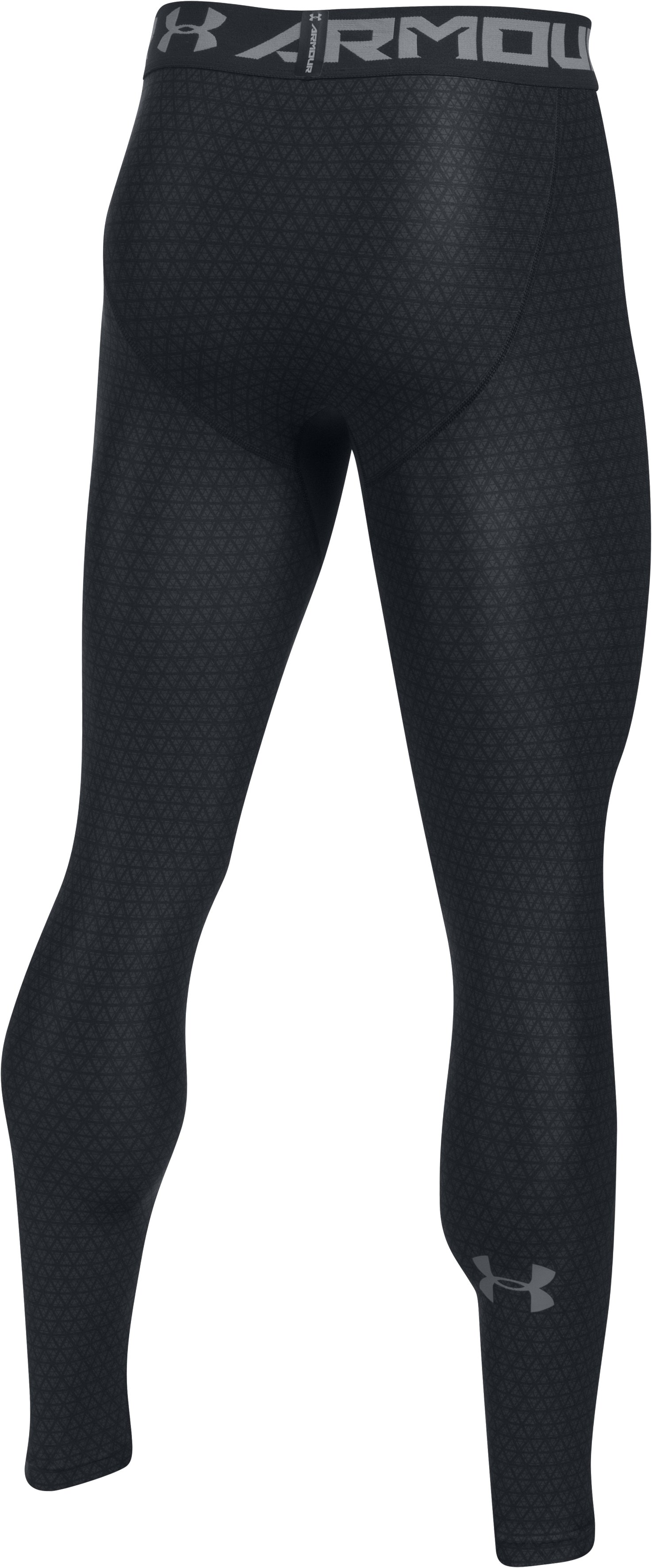 Men's HeatGear® Armour Printed Compression Leggings, Black ,