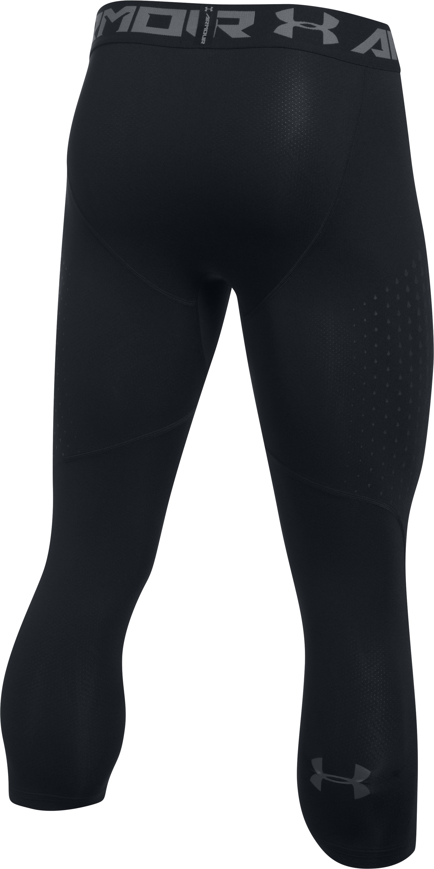 Men's HeatGear® CoolSwitch Armour ¾ Compression Leggings, Black , undefined