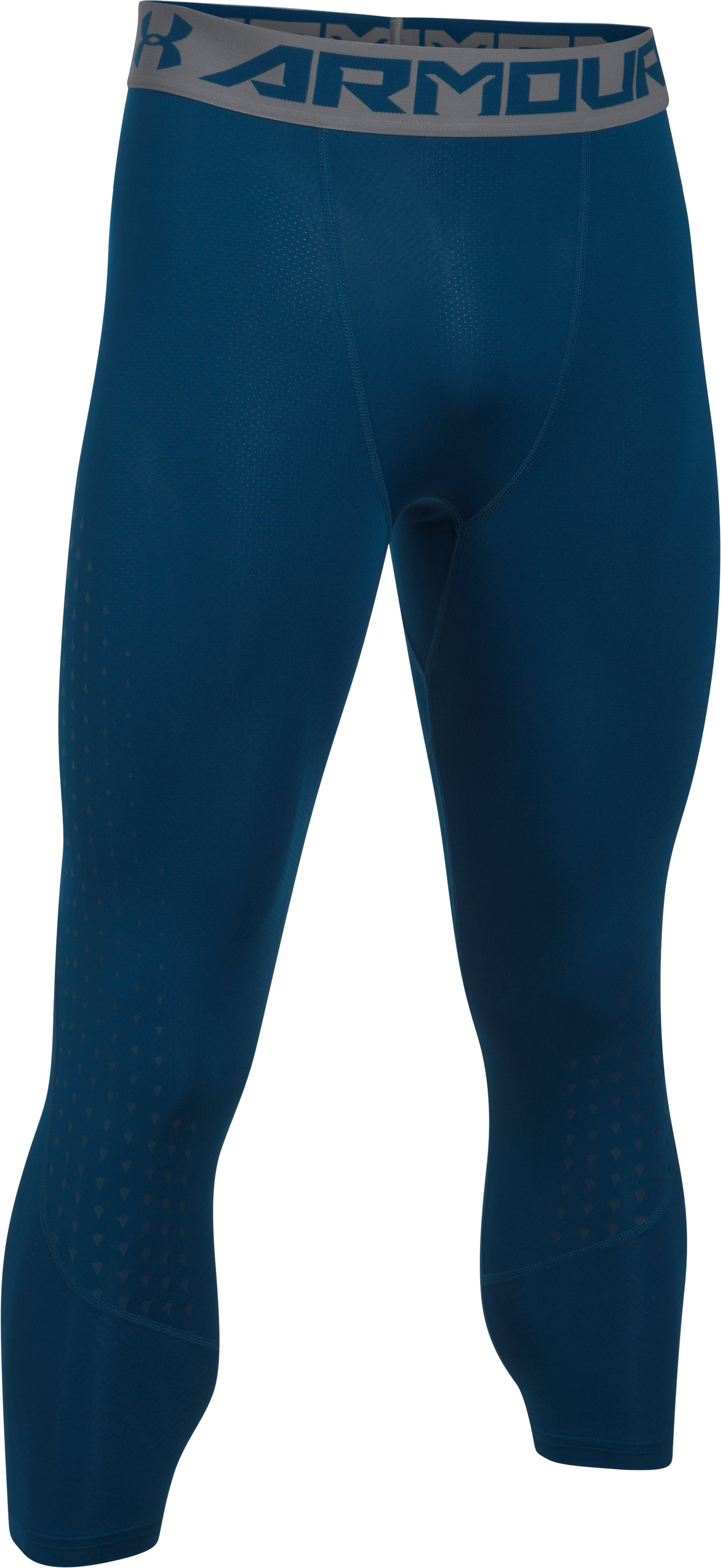 Men's HeatGear® CoolSwitch Armour ¾ Compression Leggings, BLACKOUT NAVY