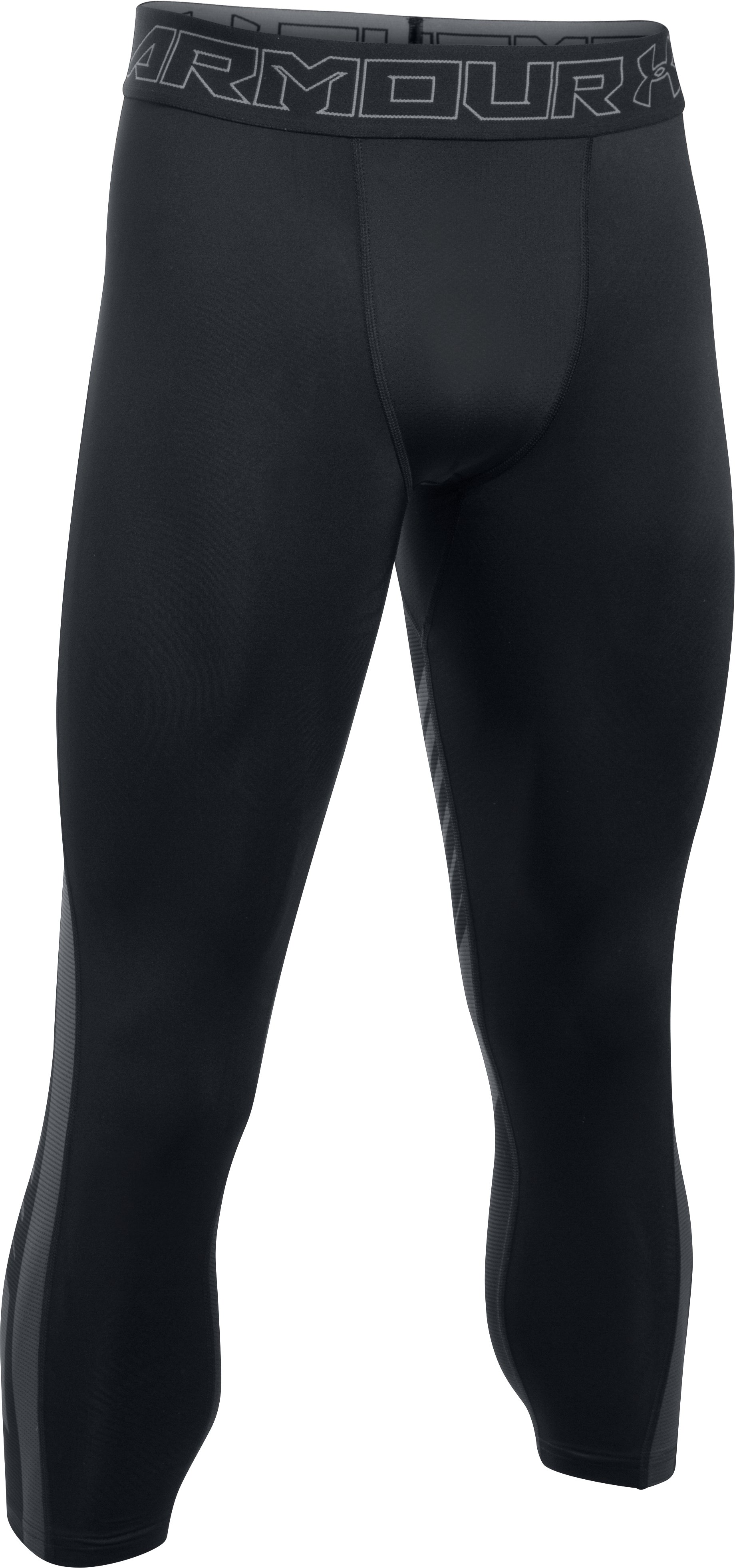 Men's HeatGear® SuperVent Compression ¾ Leggings, Black , undefined