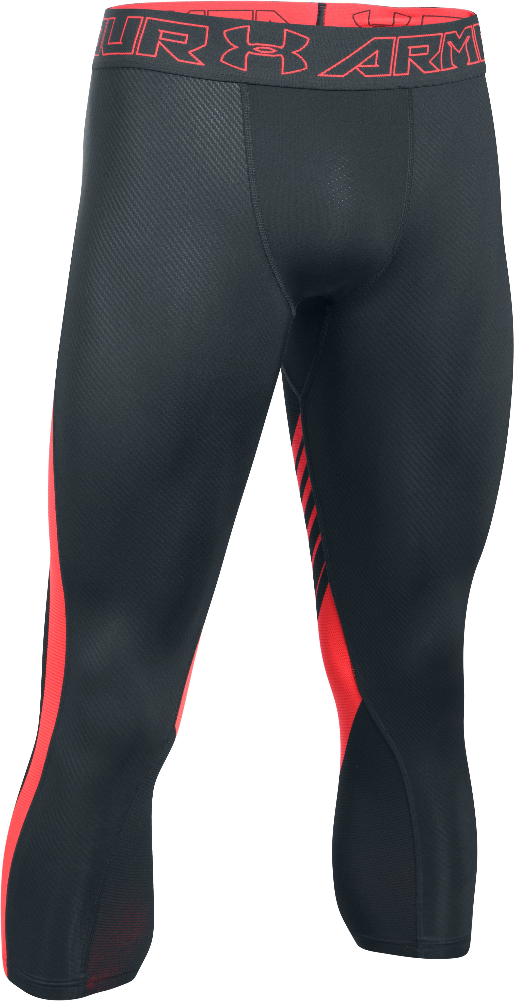 Men's HeatGear® SuperVent Compression ¾ Leggings, ANTHRACITE,