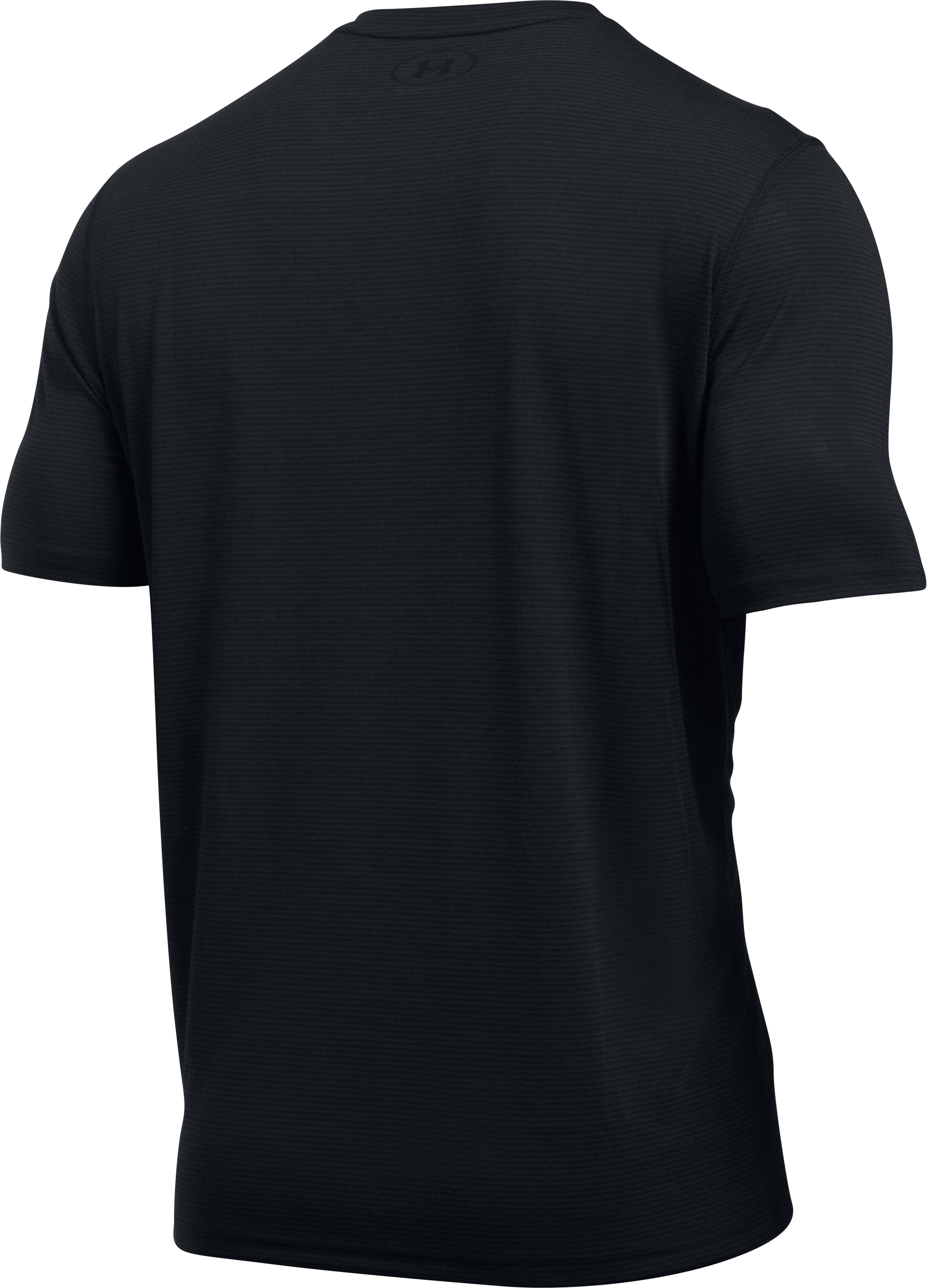 Men's UA Threadborne Siro Striped T-Shirt, Black , undefined