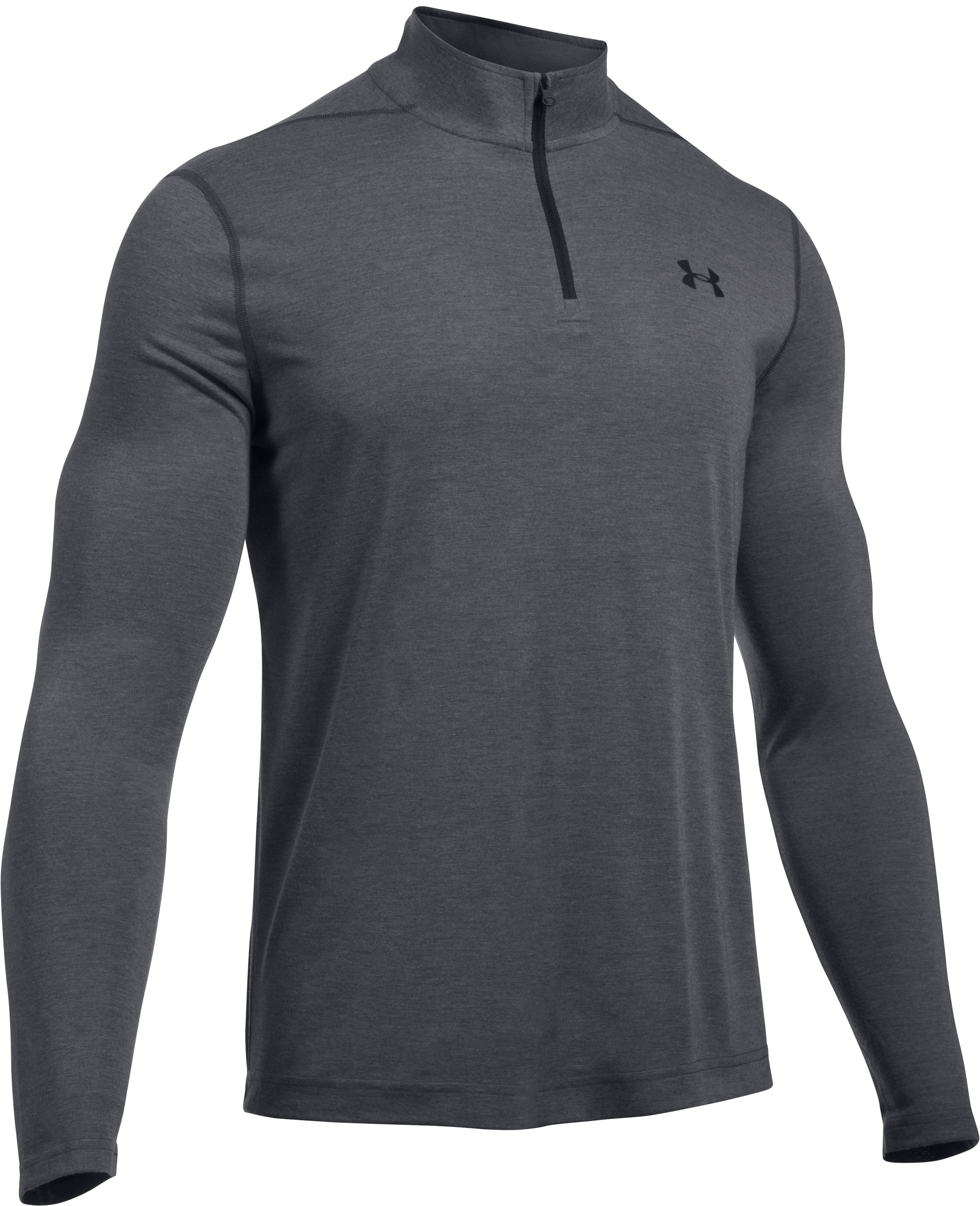 Men's UA Threadborne Siro ¼ Zip, Carbon Heather,