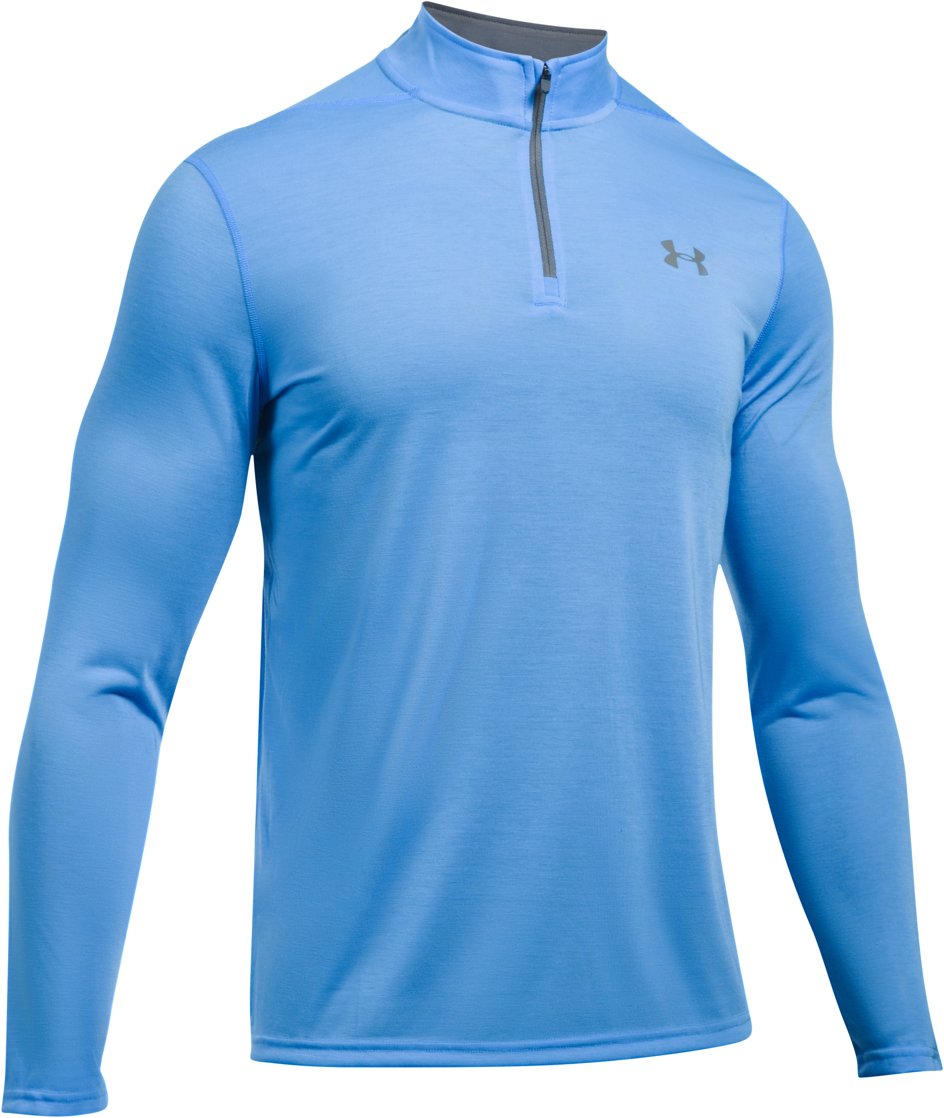 Men's UA Threadborne Siro ¼ Zip, MAKO BLUE