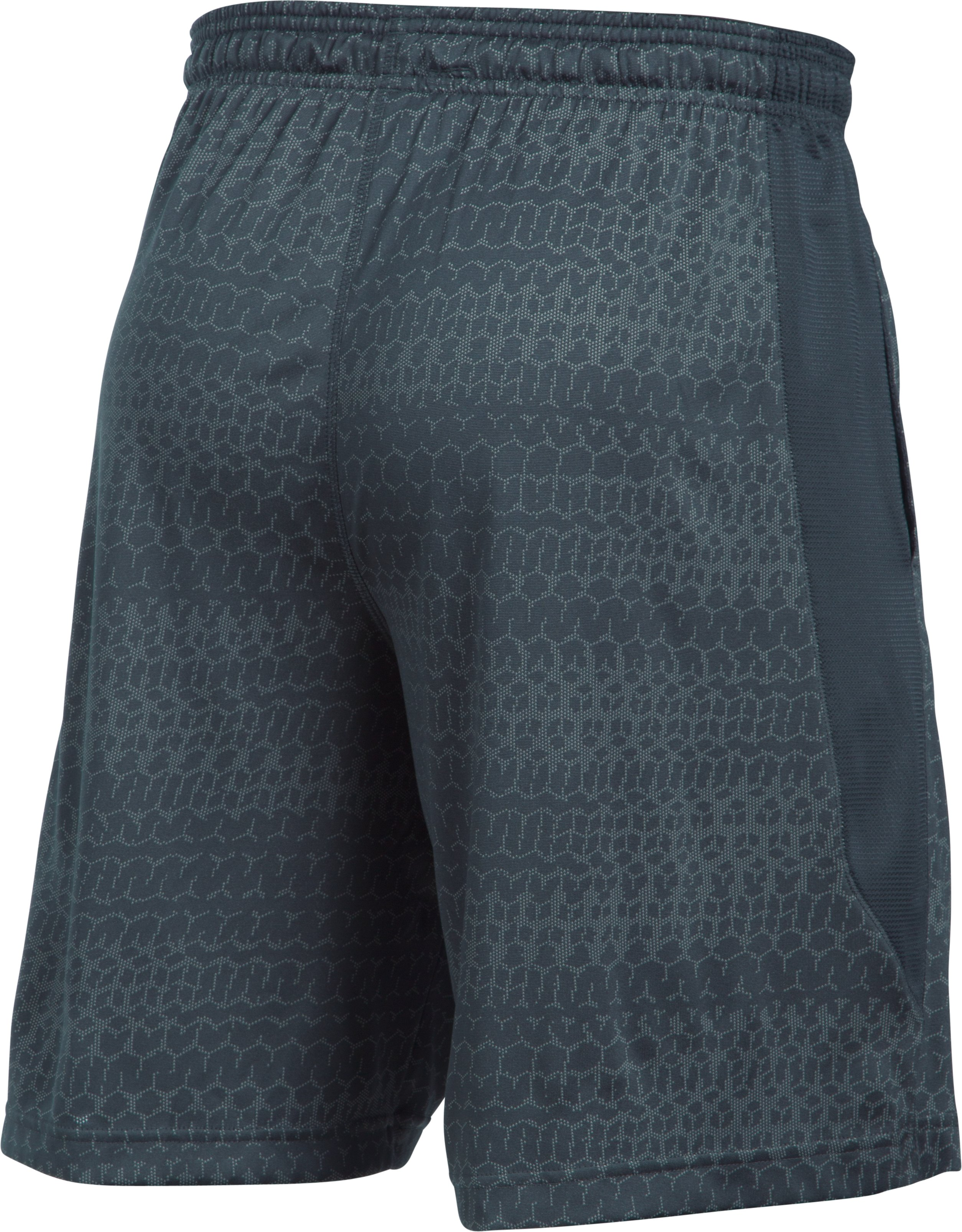 Men's UA Raid Jacquard 10'' Shorts, STEALTH GRAY,