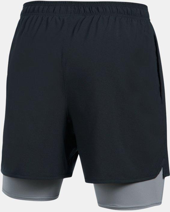 Short UA Qualifier 2-in-1 pour homme, Black, pdpMainDesktop image number 7