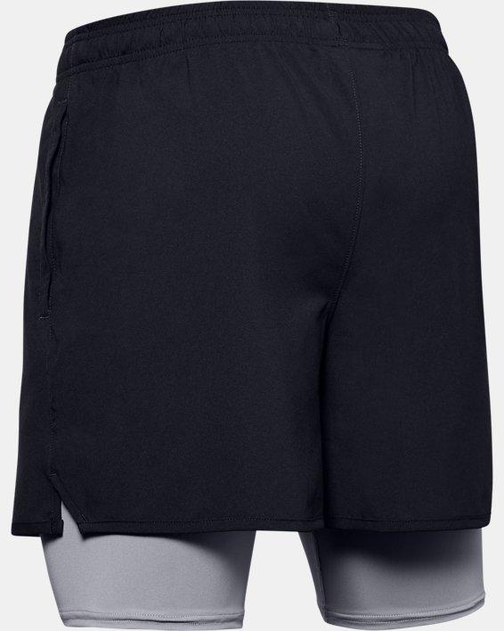 Short UA Qualifier 2-in-1 pour homme, Black, pdpMainDesktop image number 5