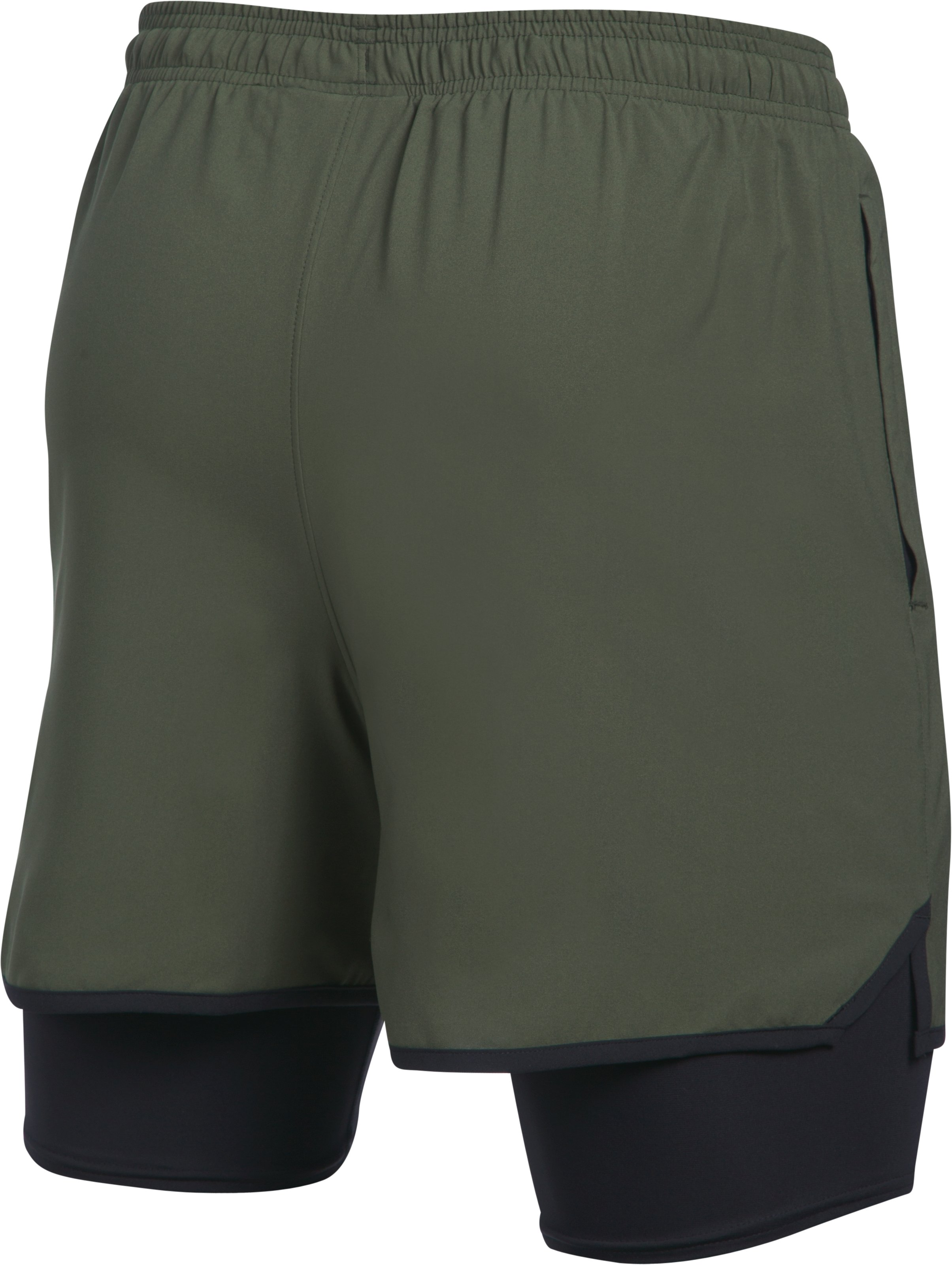 Men's UA Qualifier 2-in-1 Shorts, DOWNTOWN GREEN