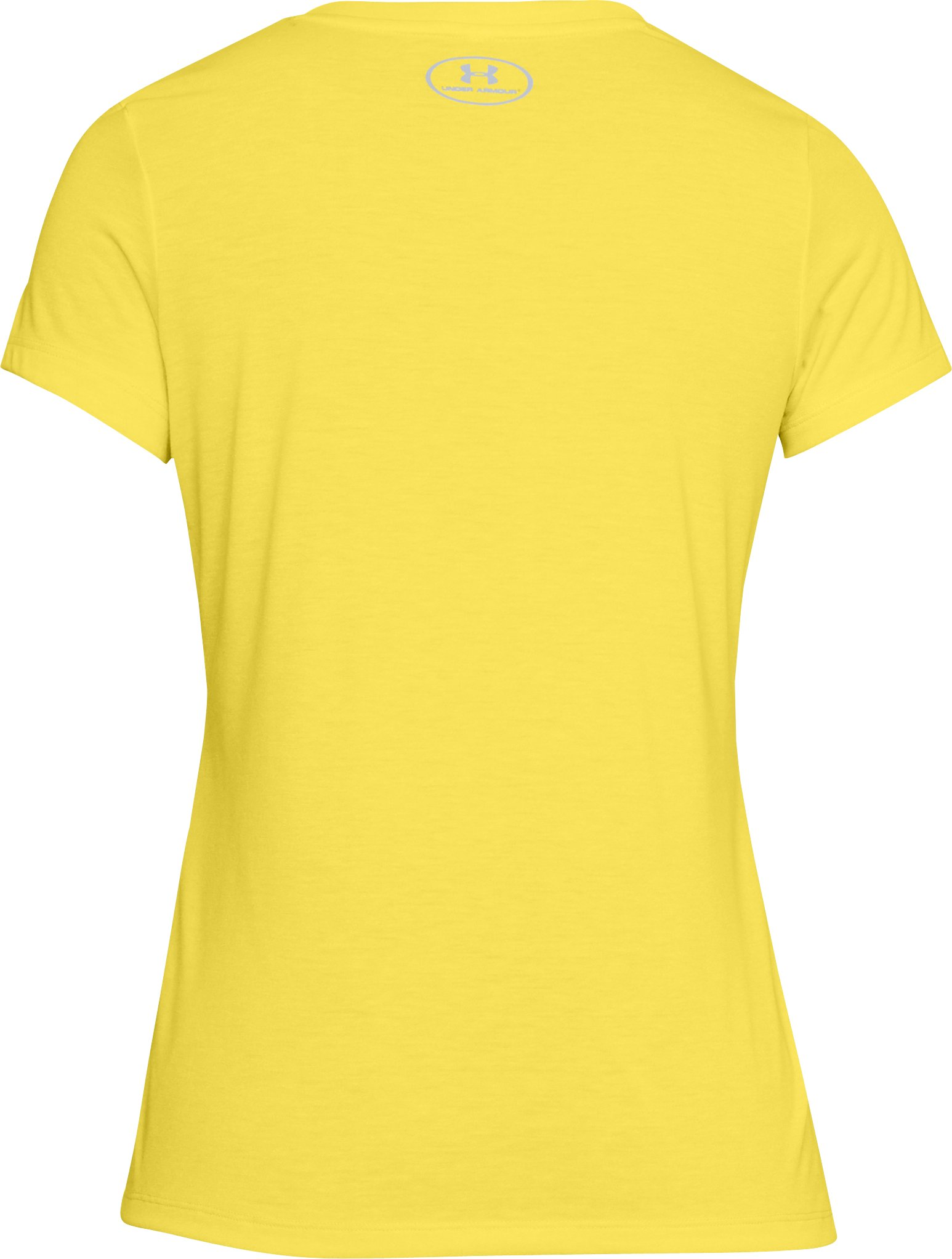 Women's UA Threadborne Train Twist V-Neck, TOKYO LEMON,