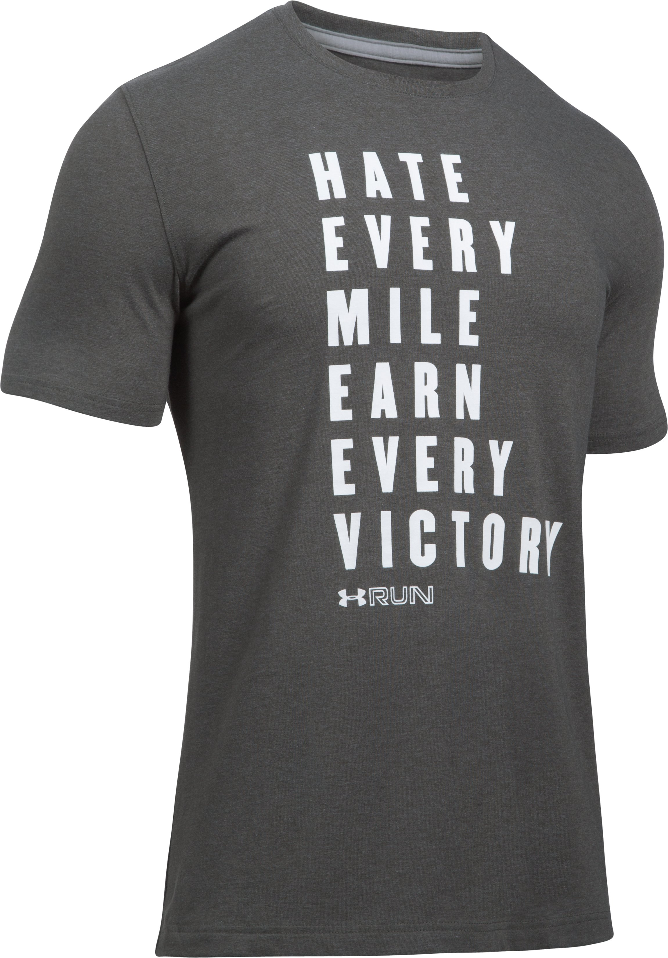 Men's UA Run Earn Victory T-Shirt, Carbon Heather,
