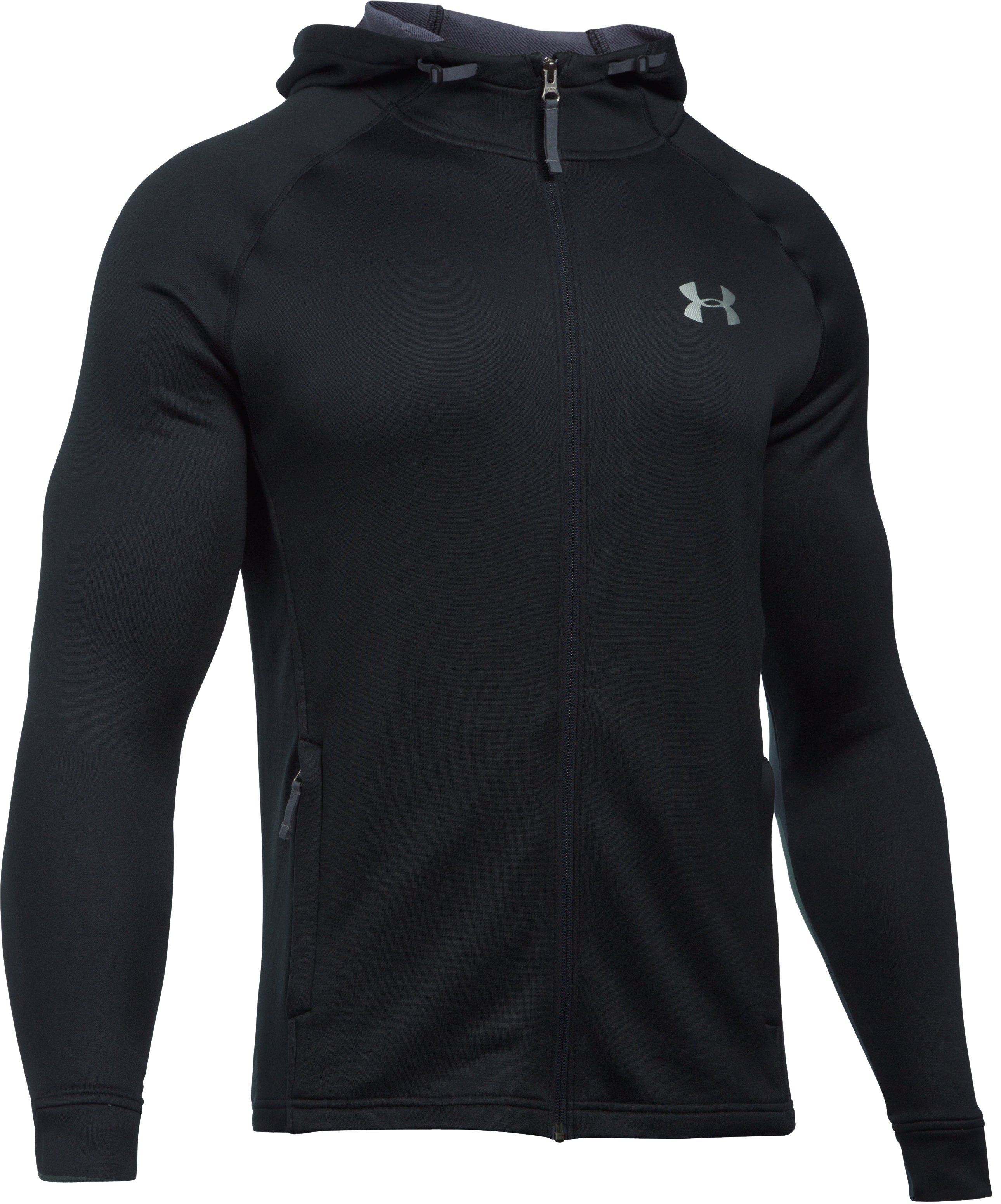 Men's UA Tech™ Terry Full Zip Hoodie, Black ,