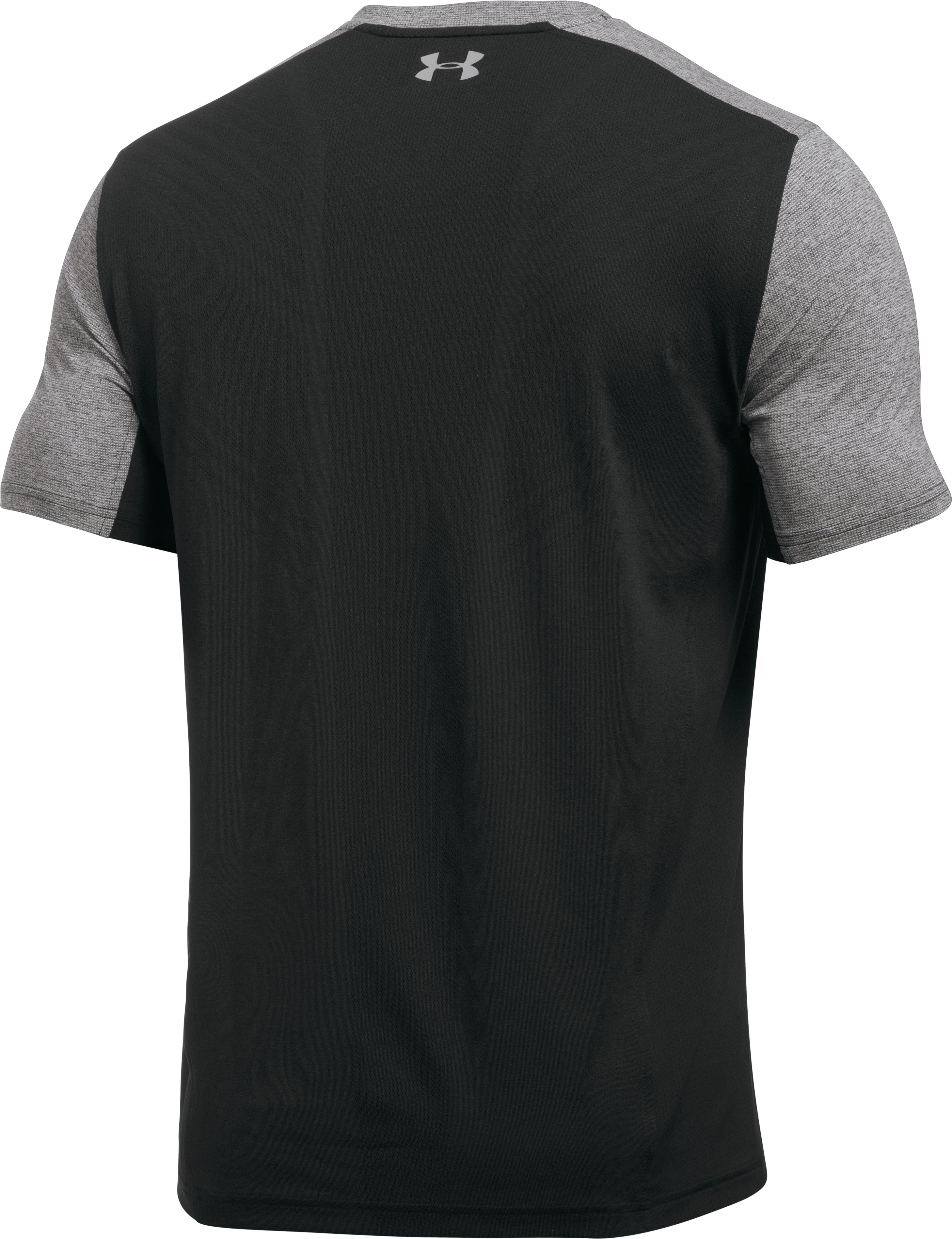 Men's UA Threadborne Center Court V-Neck, Carbon Heather, undefined