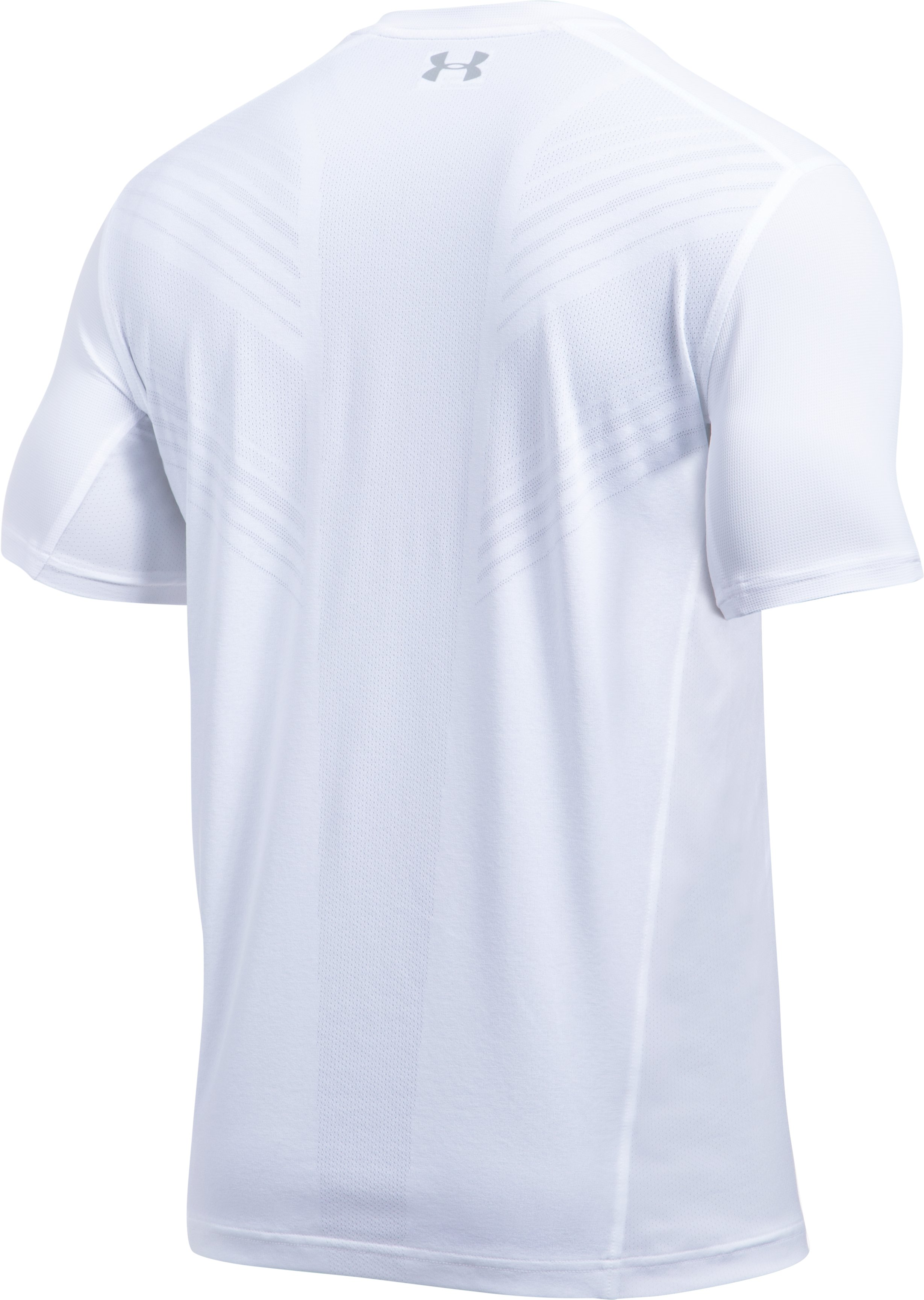 Men's UA Threadborne Center Court V-Neck, White, undefined